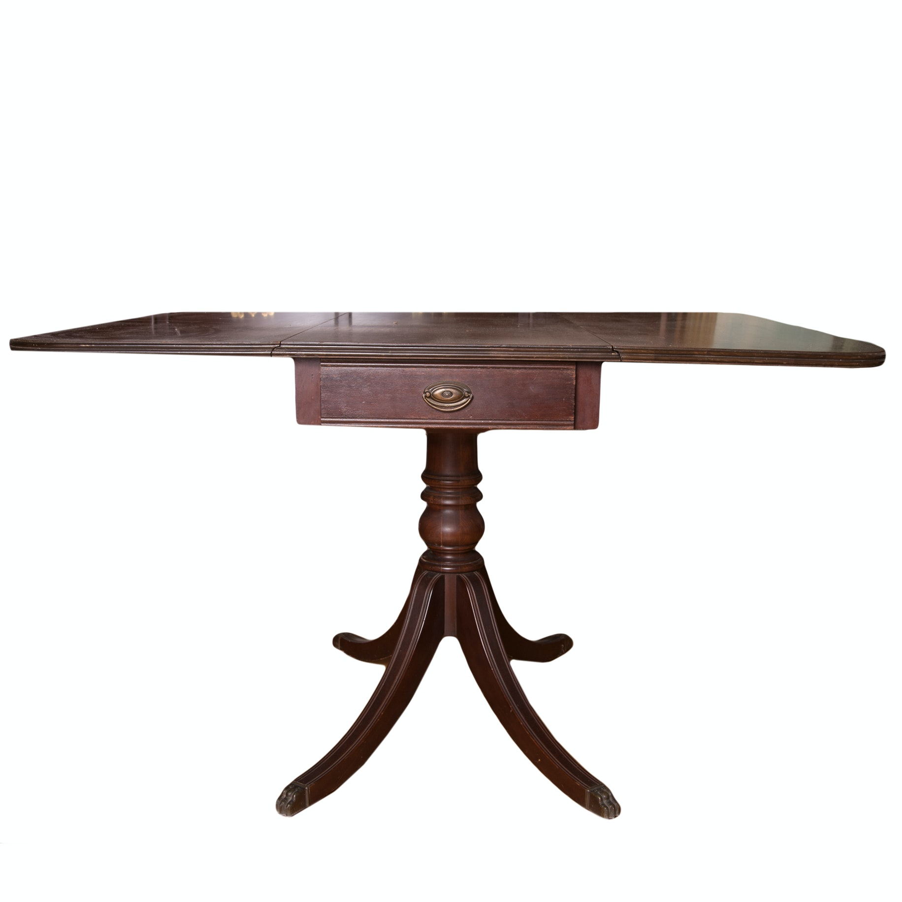 Vintage Brandt Mahogany Duncan Phyfe Drop Leaf Table