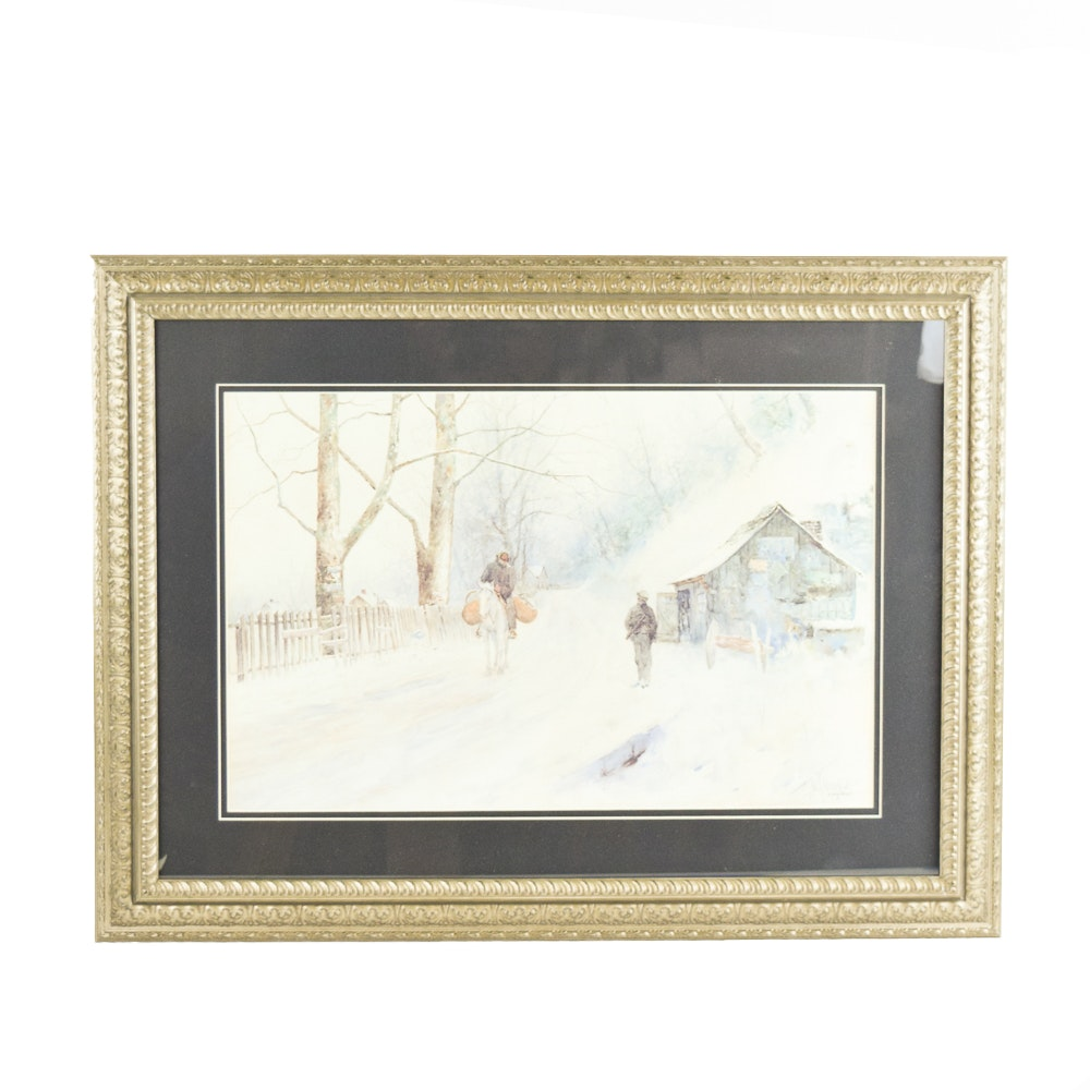 "Paul Sawyier Limited Edition and Sold Out ""The Blacksmith Shop"""