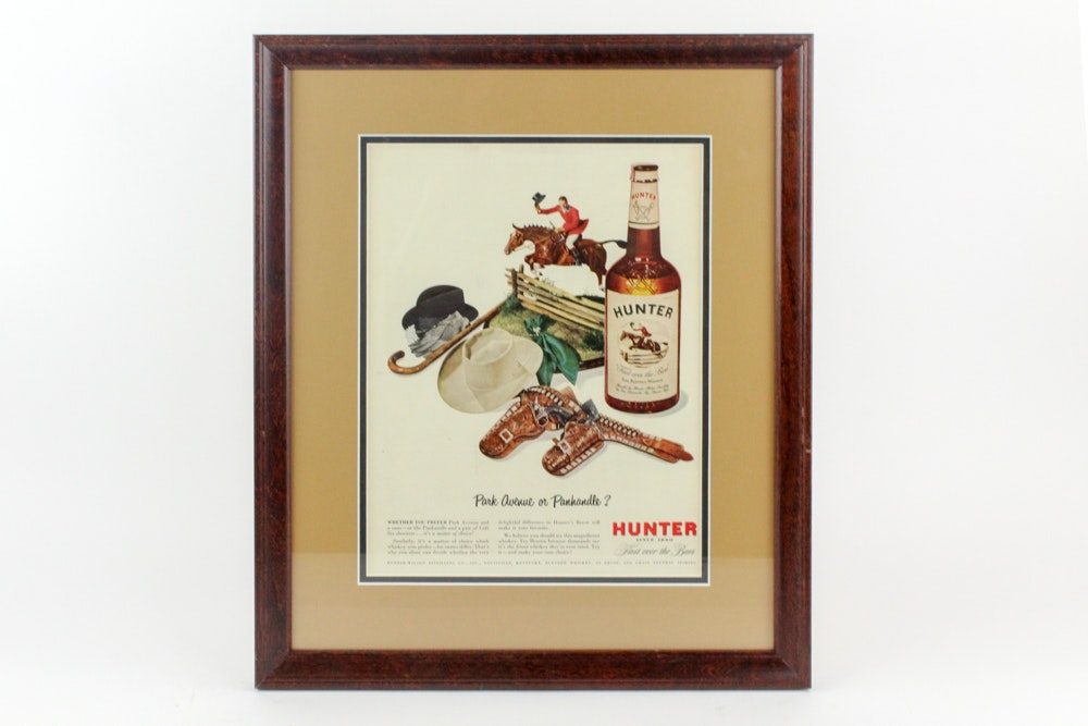 Hunter Bourbon Advertisement
