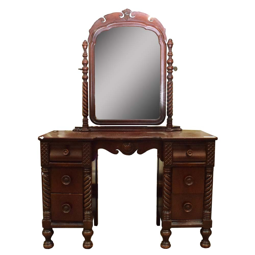 Vintage American Empire Vanity and Mirror