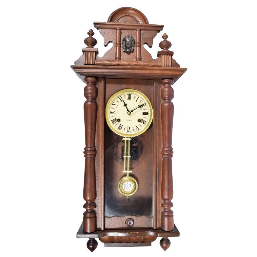 Vintage Regulator Pendulum Wall Clock