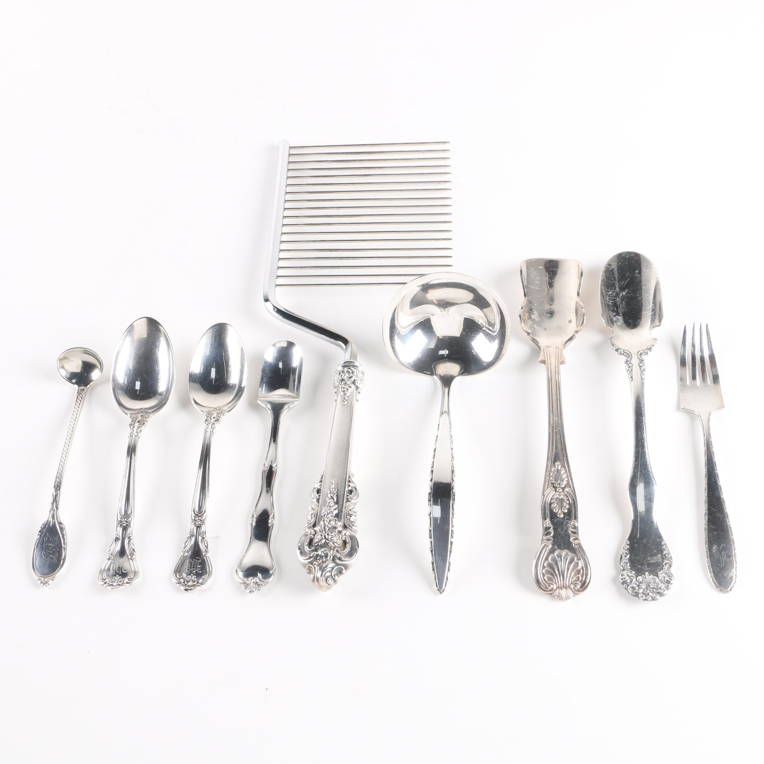 Sterling Silver Serving Utensils and Flatware Featuring Gorham