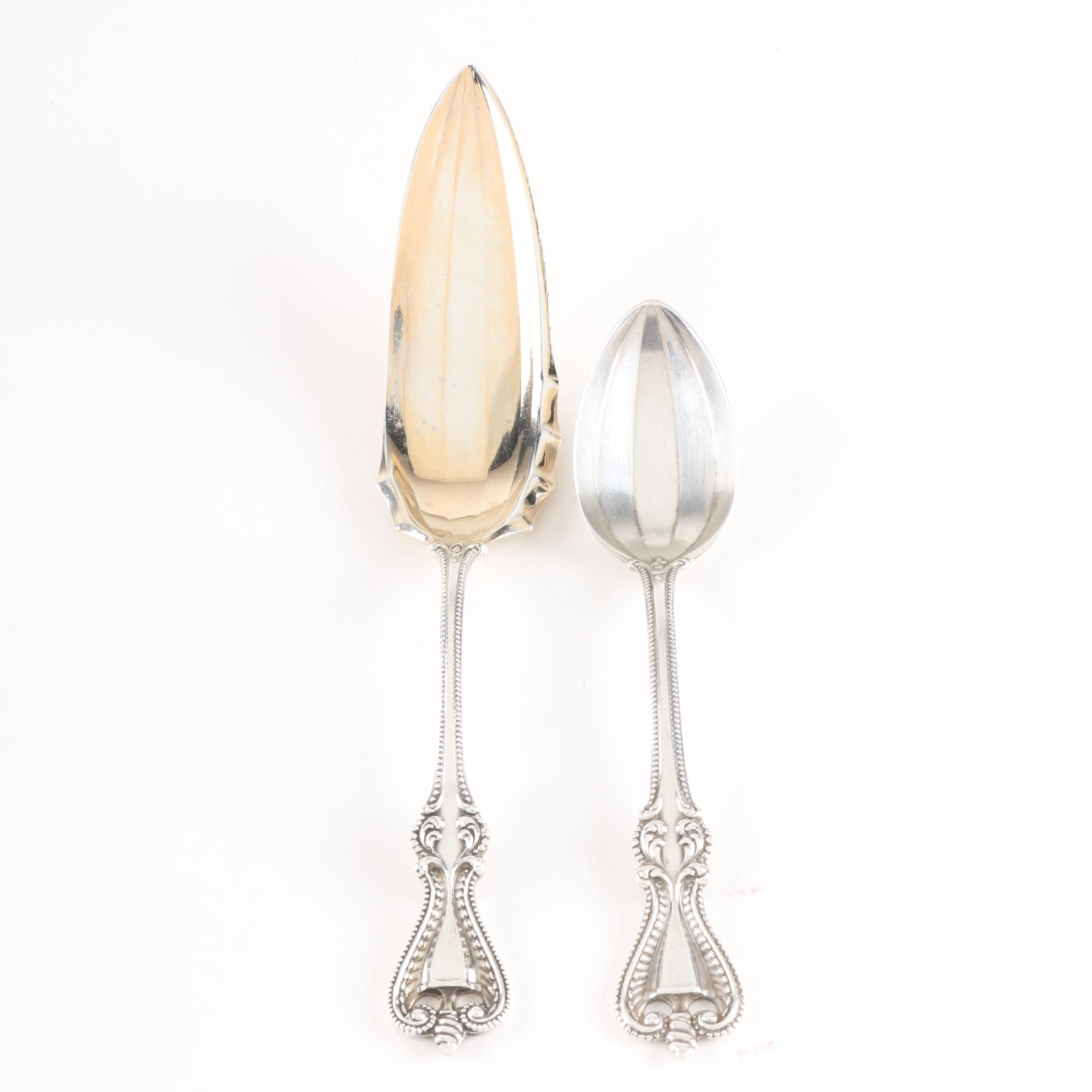 """Towle """"Old Colonial"""" Sterling Silver Teaspoon and Jelly Knife"""