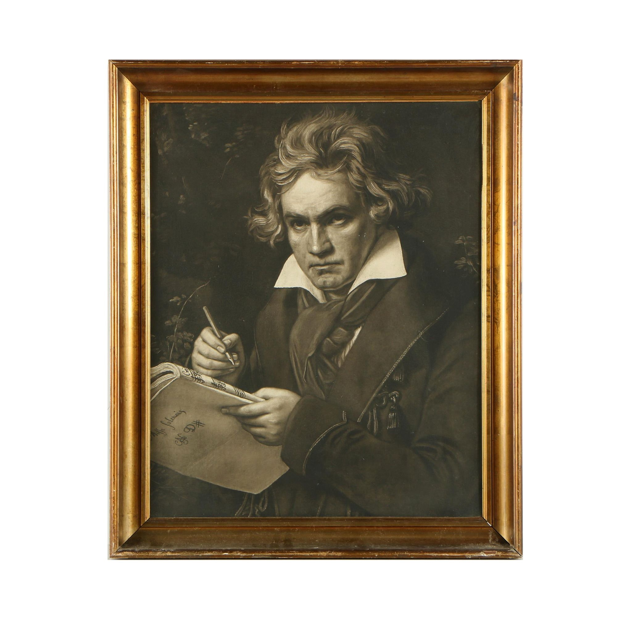 Reproduction Print After Joseph Karl Stieler's Portrait of Beethoven
