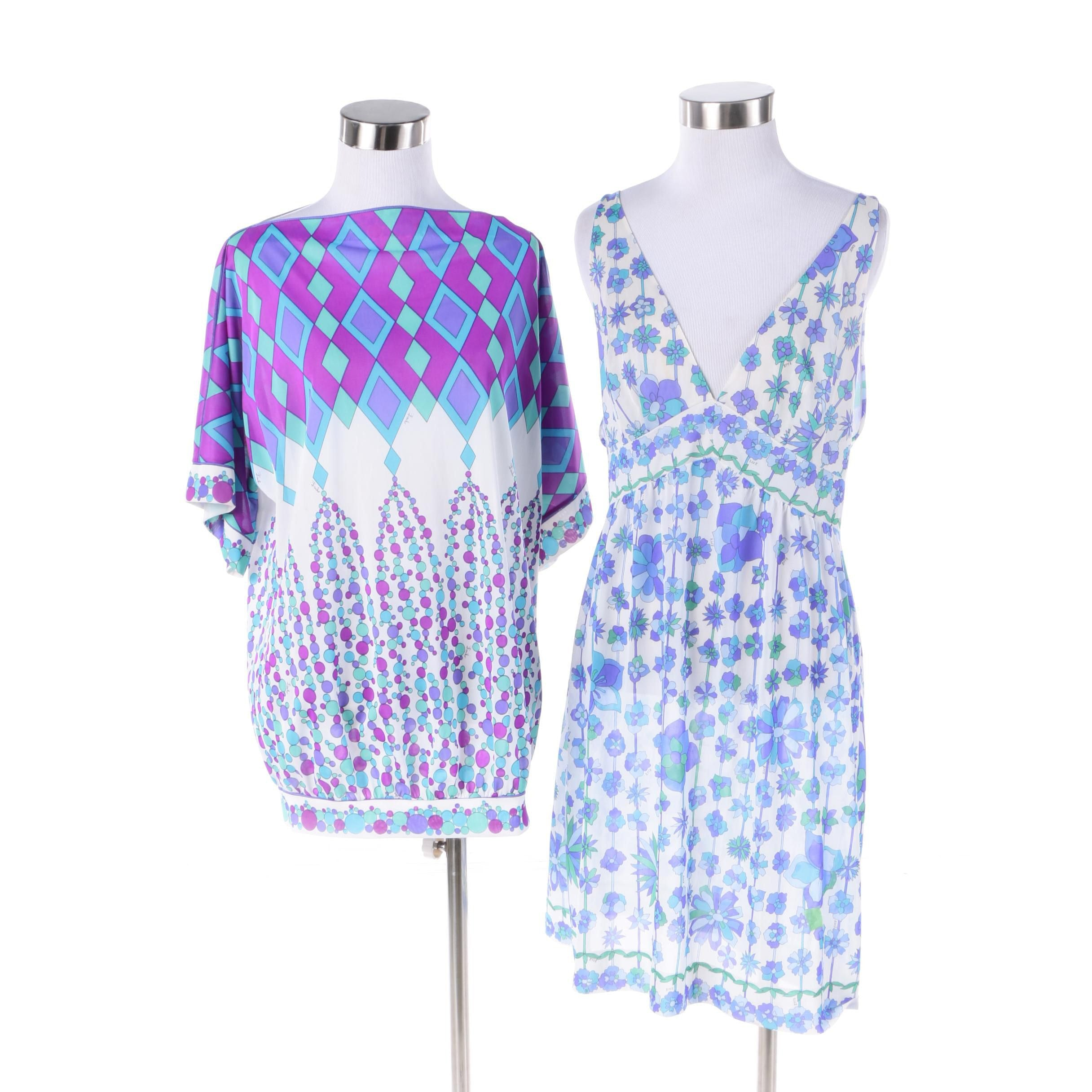 1960s Emilio Pucci Sheer Top and Emilio Pucci for Formfit Rogers Nightgown