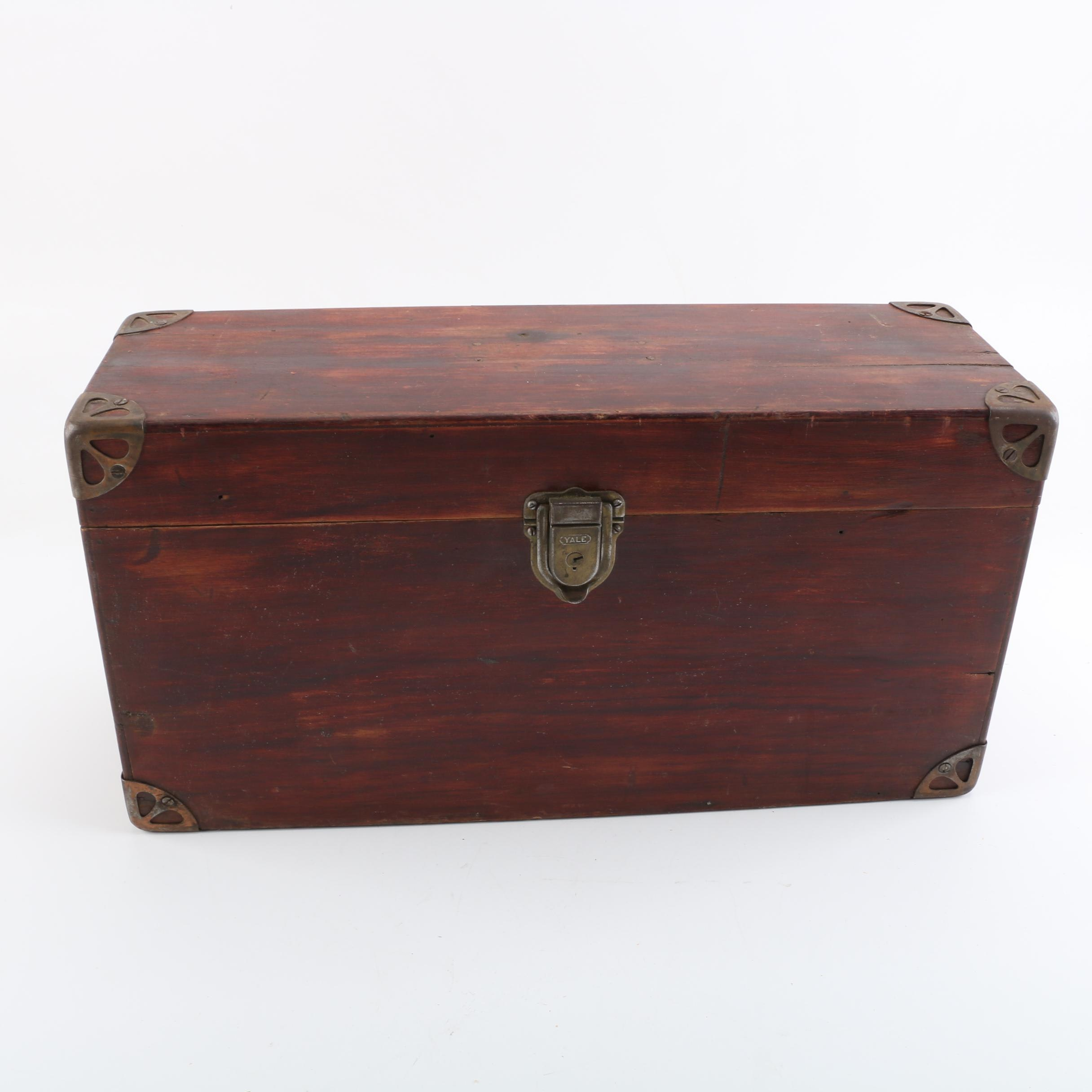Vintage Steamer Trunk with Yale Lock