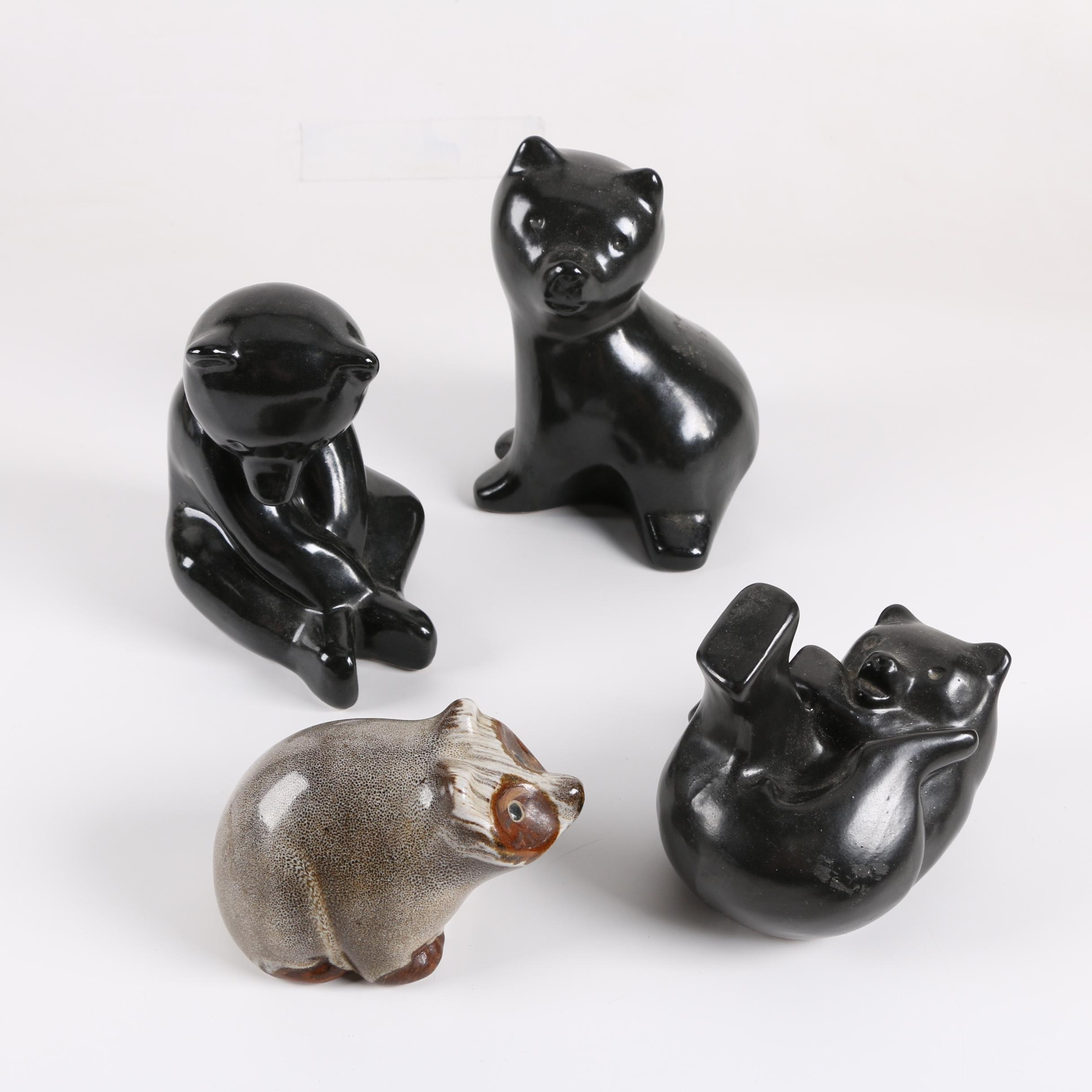 Pigeon Forge Pottery Signed Animal Figurines