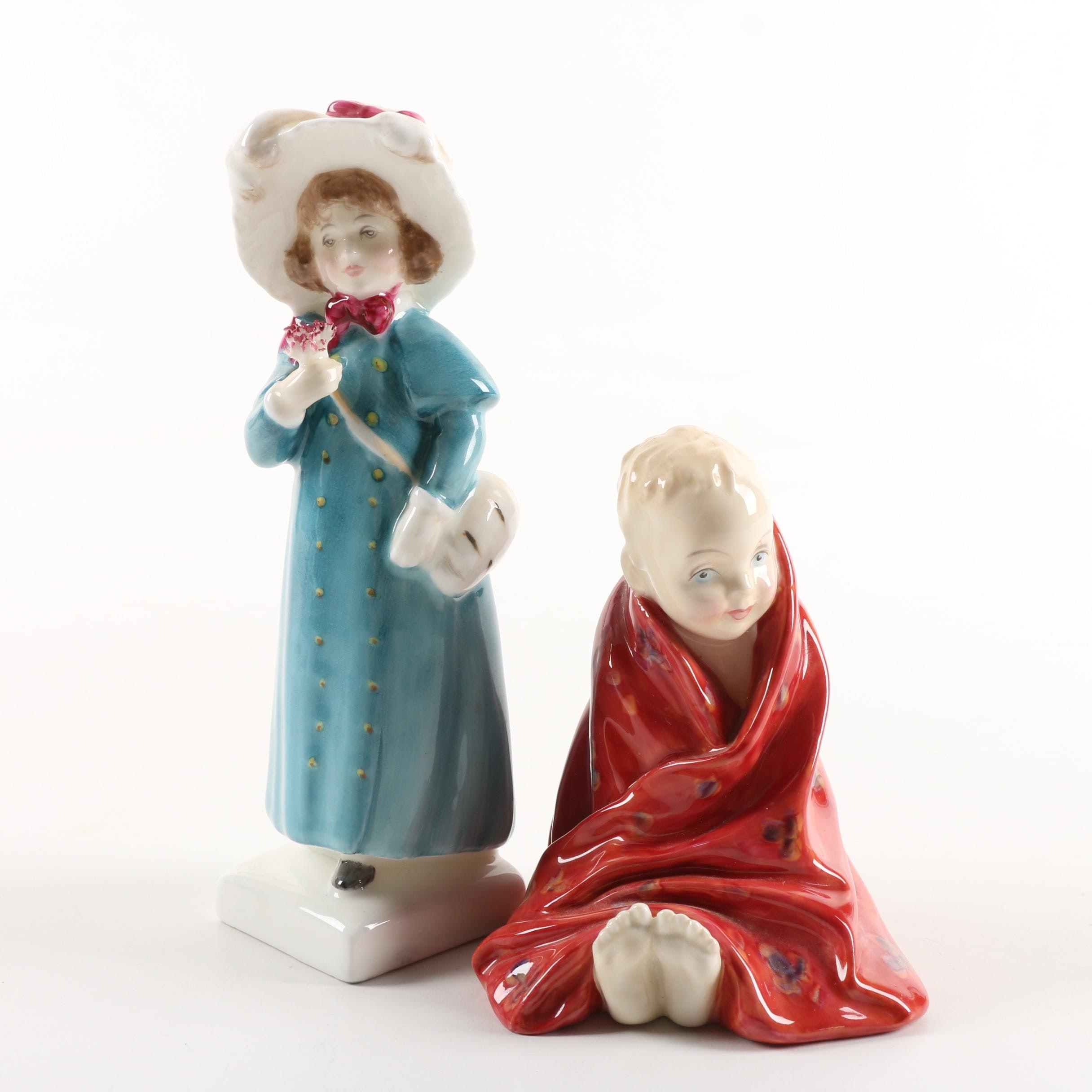 "Royal Doulton ""This Little Pig"" and ""Carrie"" Figurines"