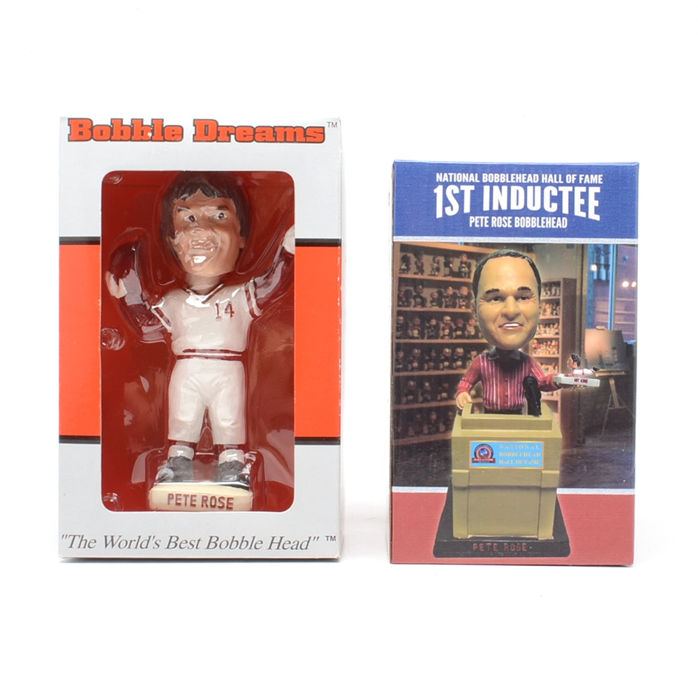 Two Pete Rose Bobbleheads