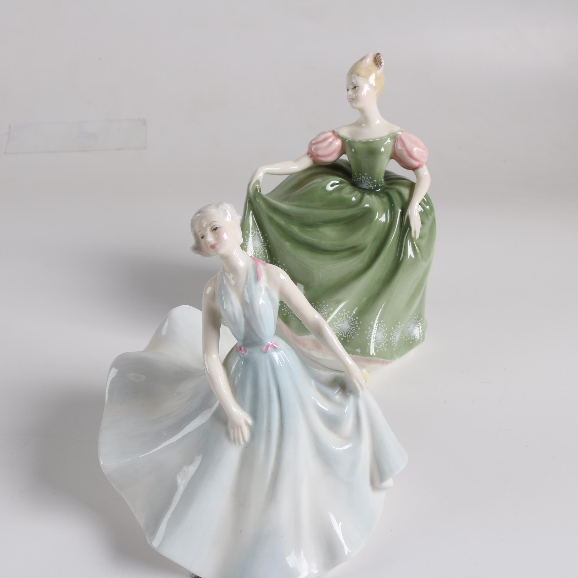 "Royal Doulton Porcelain ""Michele"" and ""Pirouette"" Figurines"