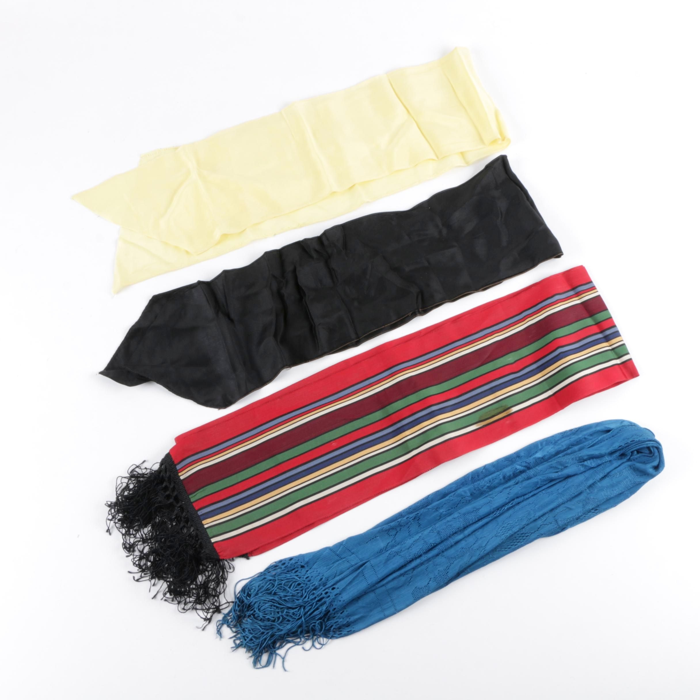 Vintage Solid and Striped Fashion Scarves