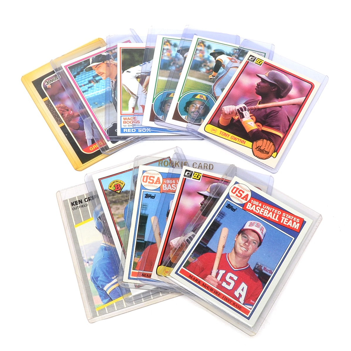 1980s Baseball Rookie Cards Including Gwynn and Griffey Jr.