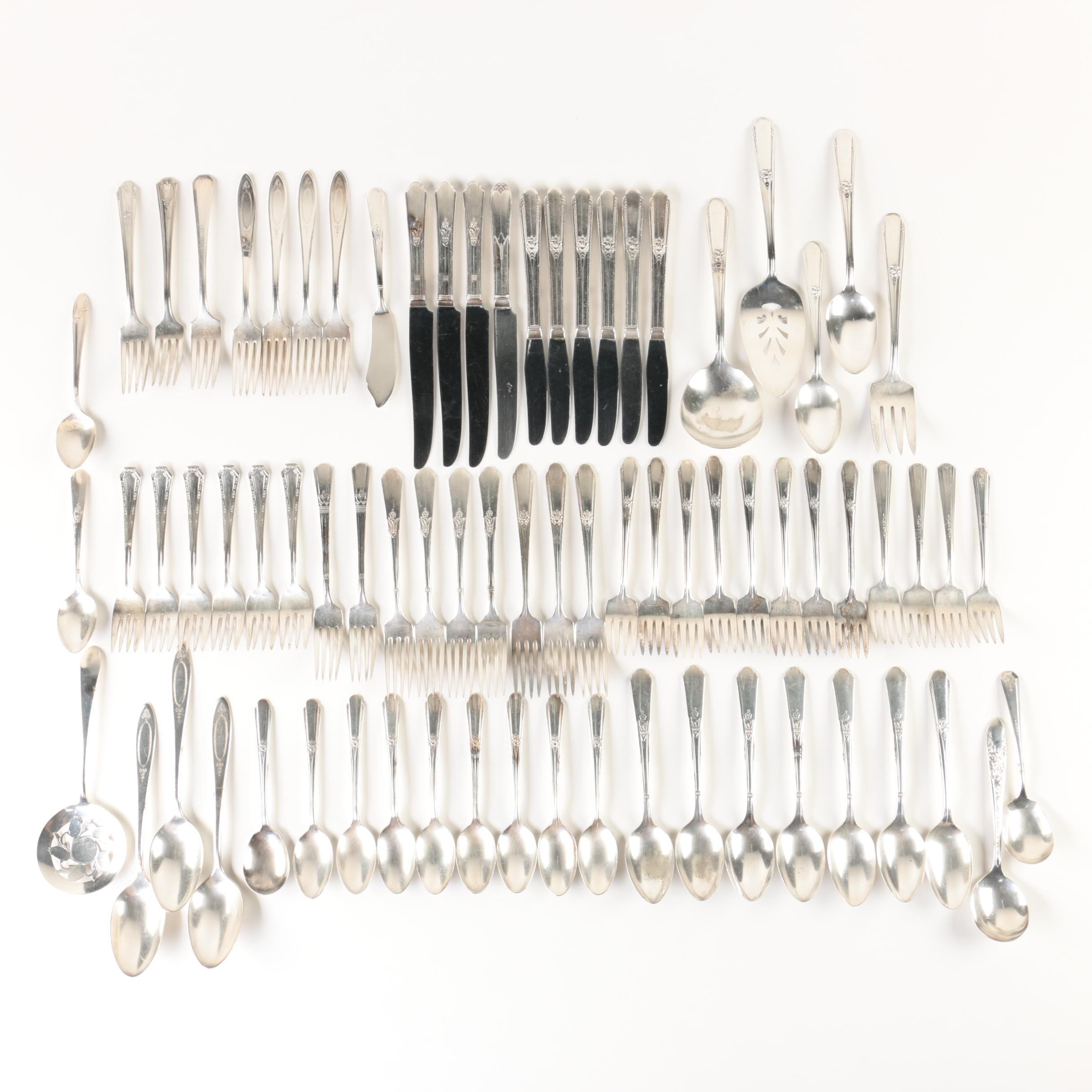 Silver Plate Flatware Collection Featuring Wm. Rogers