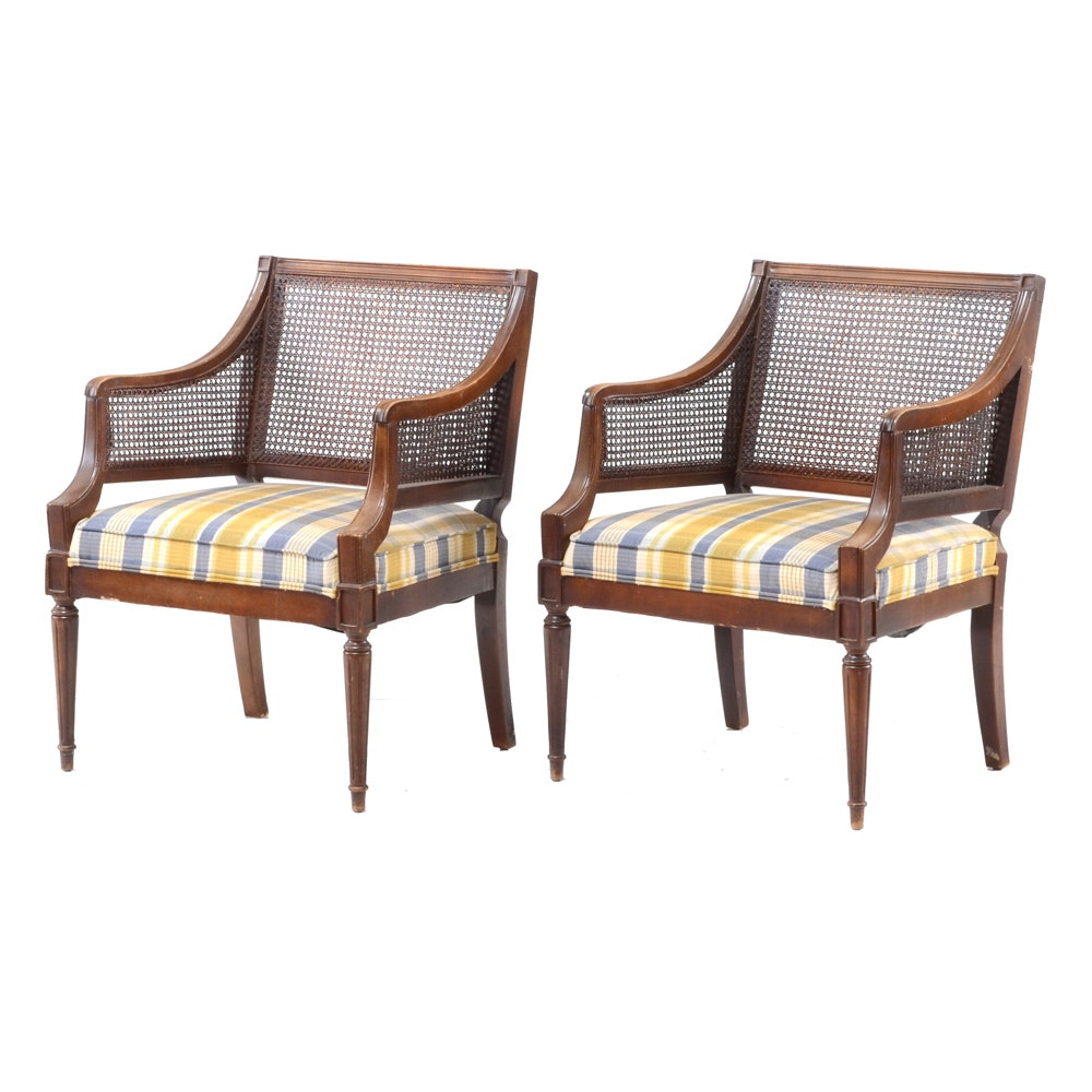Pair of Louis XVI Style Arm Chairs