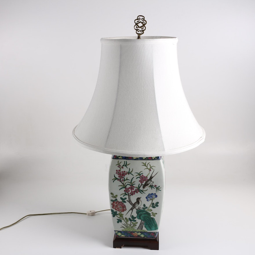 Hand Painted Chinese Ceramic Table Lamp