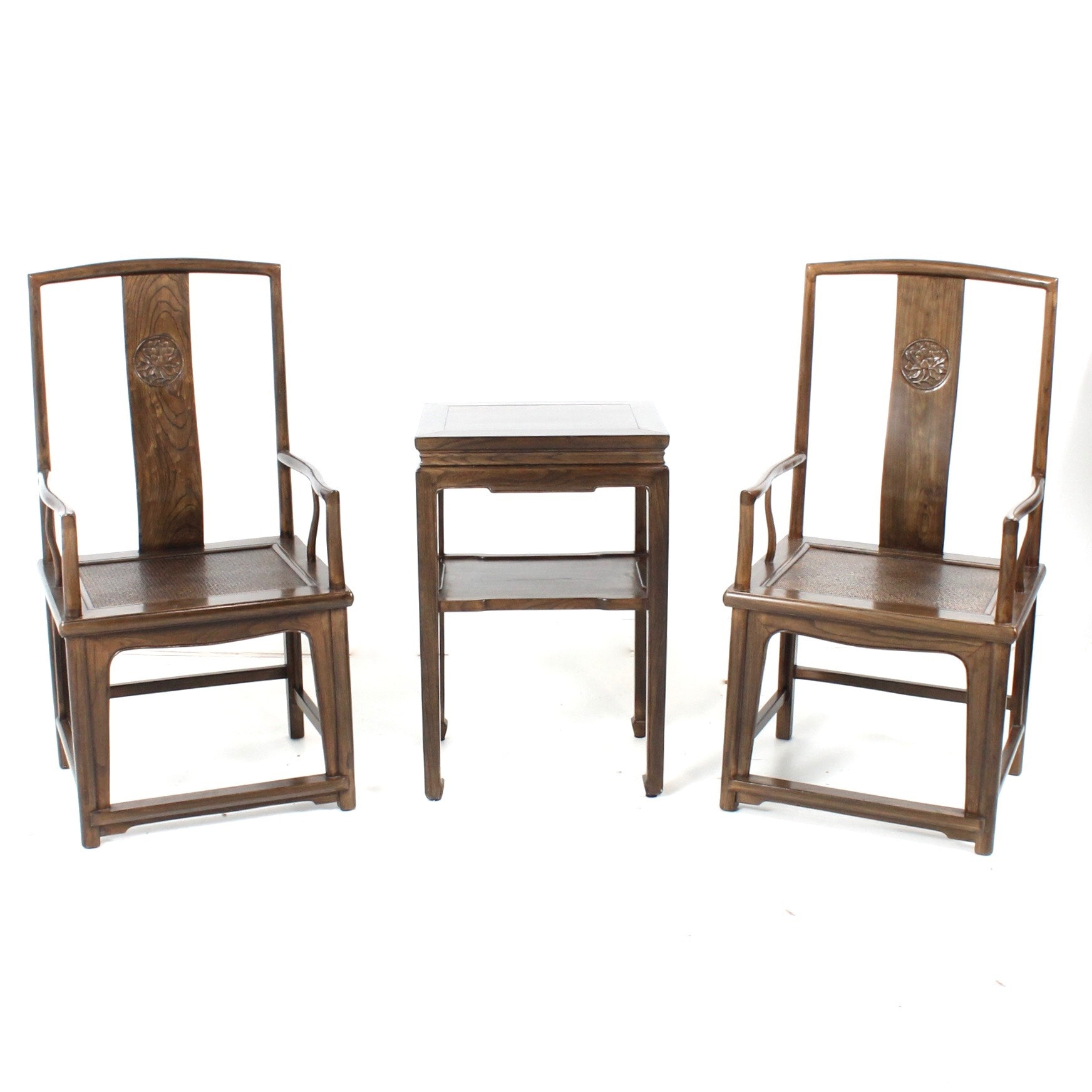 Antique Chinese Scholar's Chairs and Accent Table