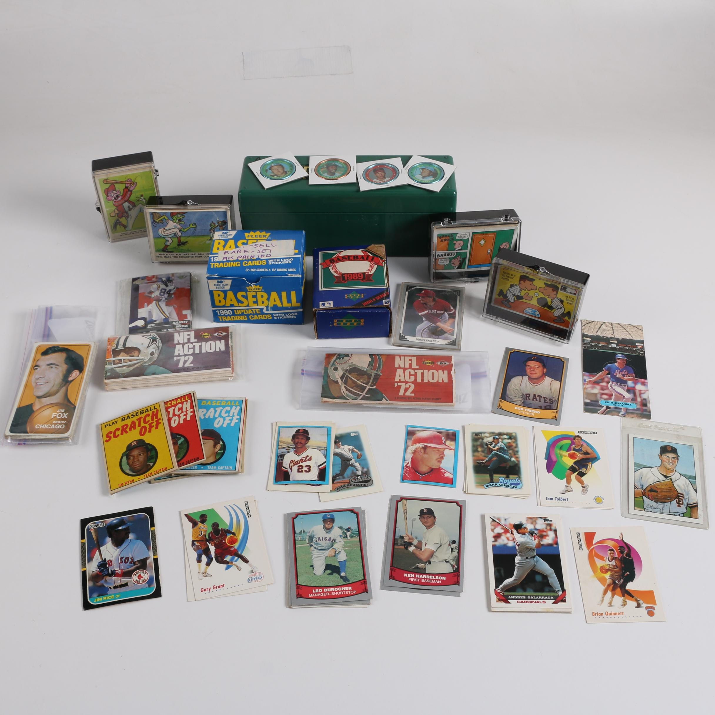 Sports Trading Cards, Baseball Buttons and Other Sports Collectibles