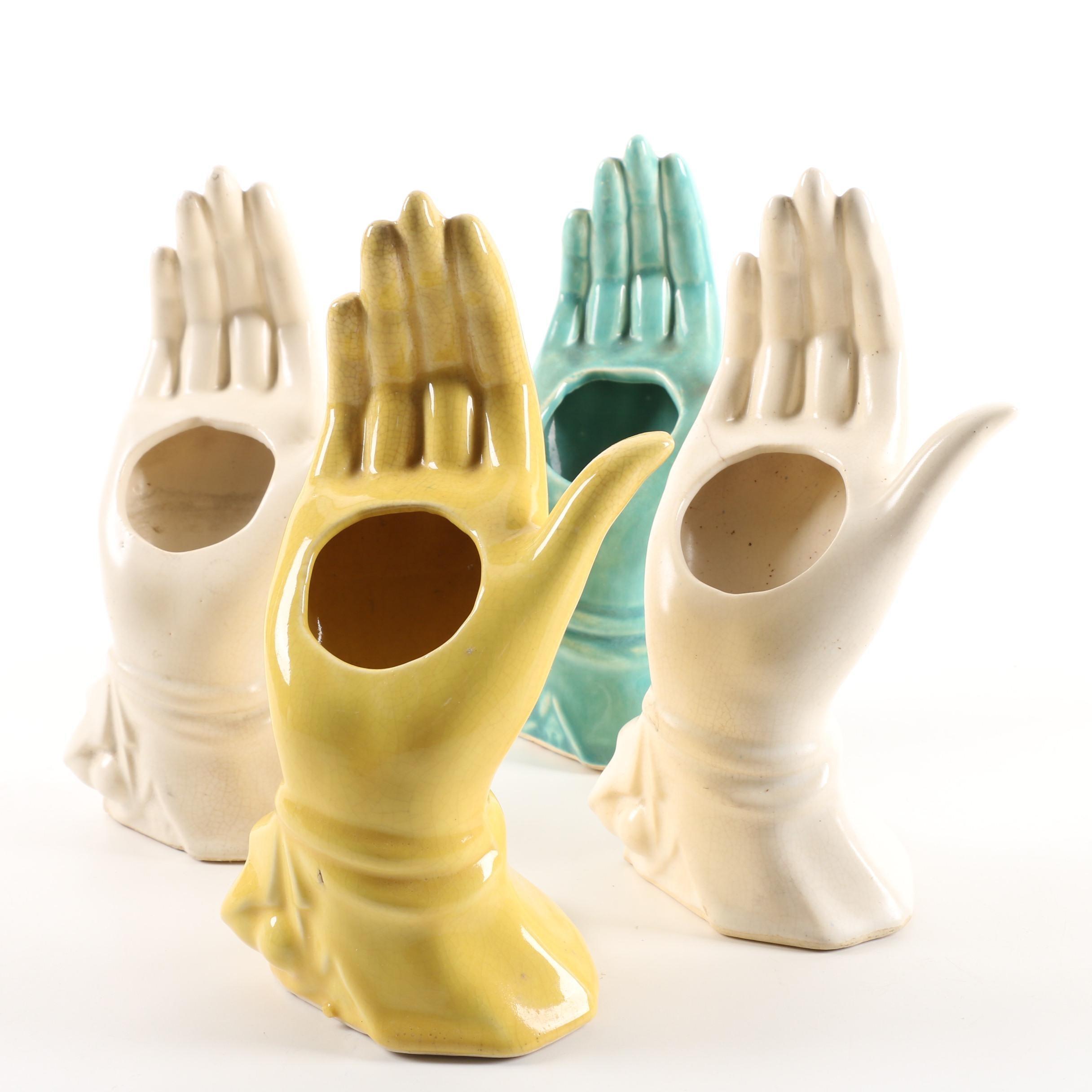 Vintage McCoy Pottery Hand Vases