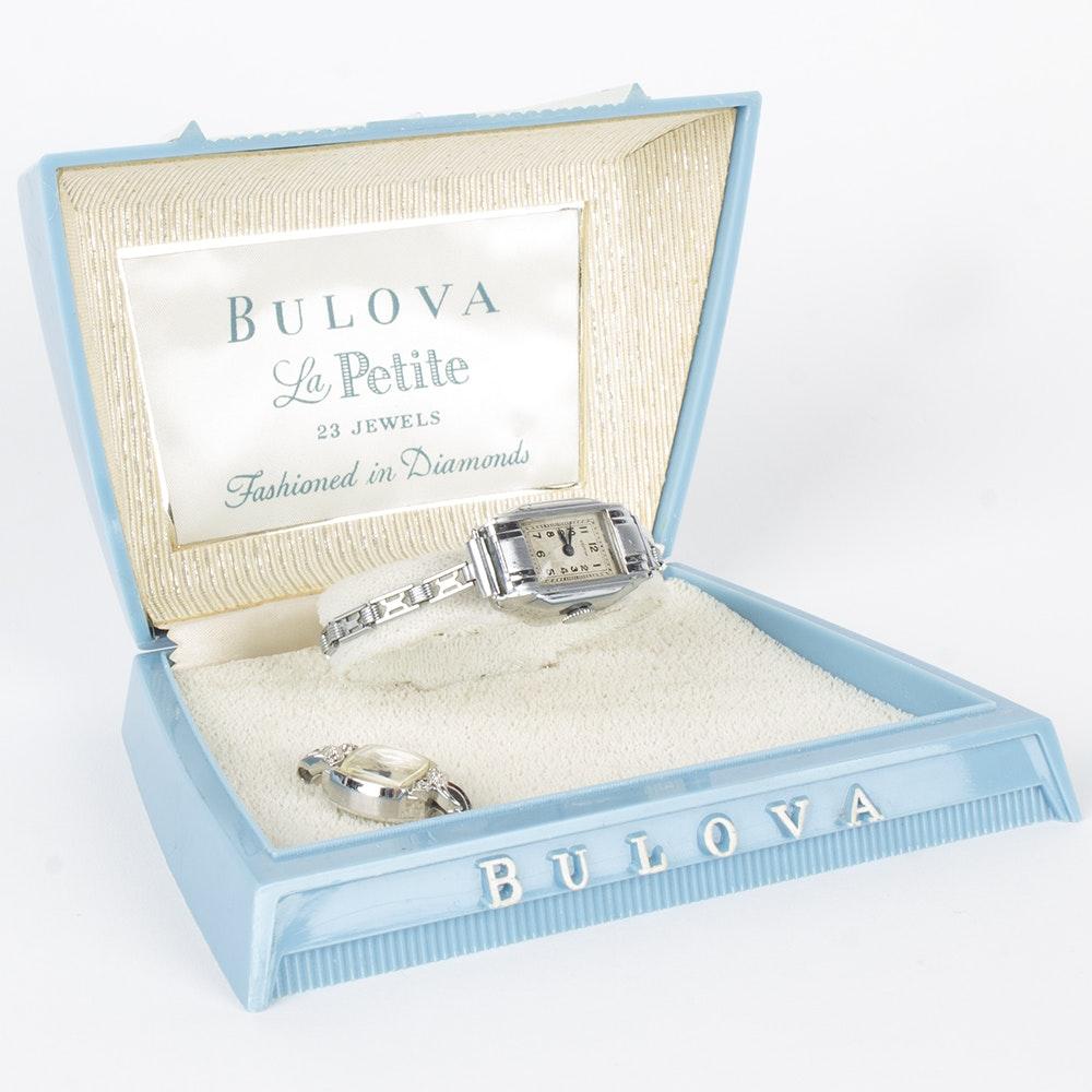 Bulova Le Petite Wristwatch Featuring Diamonds and Croton Wristwatch