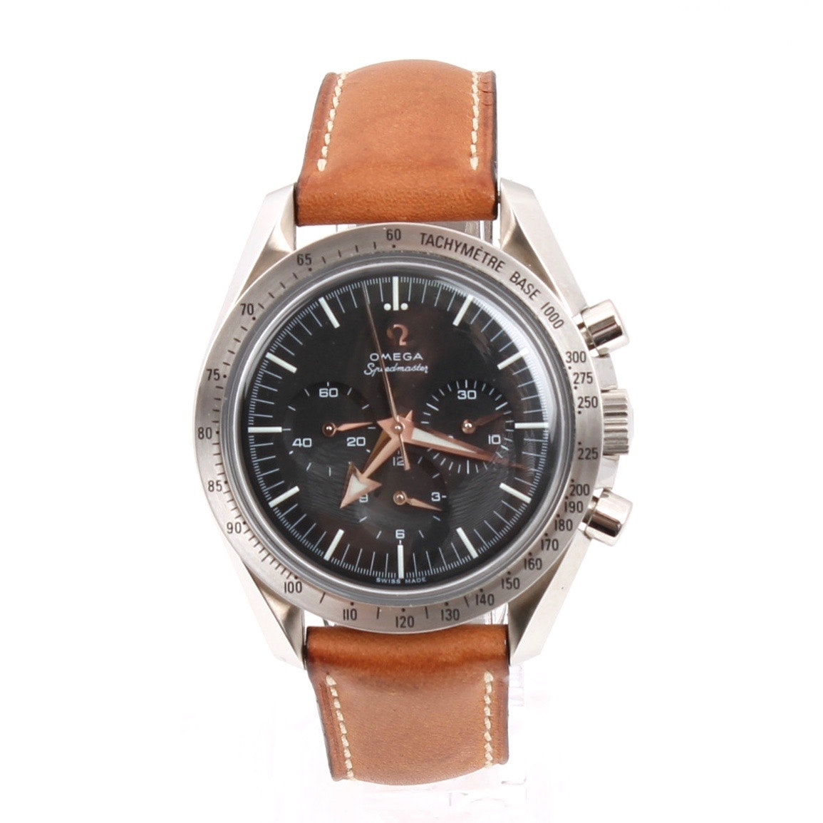 Omega Speedmaster Stainless Steel Mechanical Chronograph Wristwatch