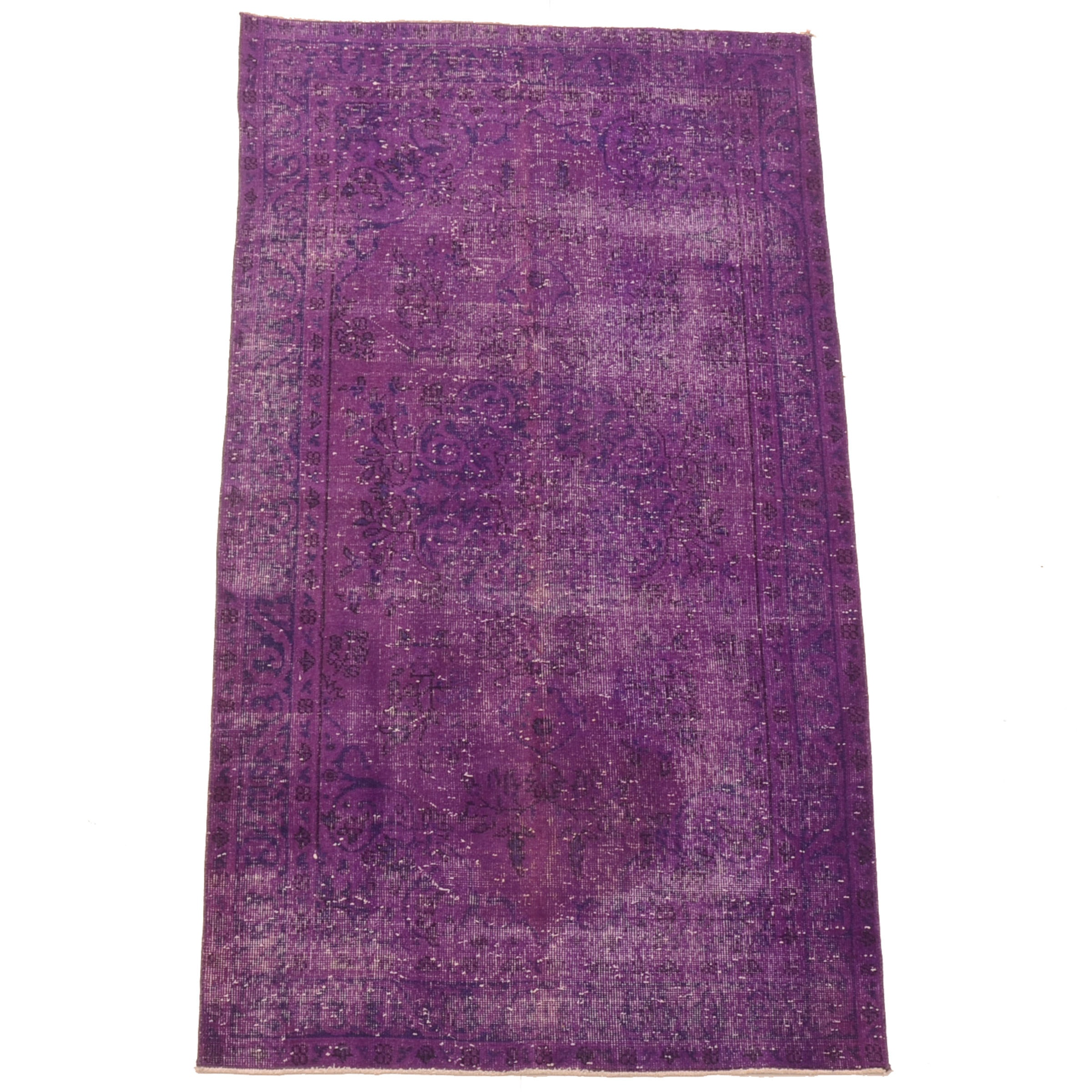 Hand-Knotted Overdyed Turkish Wool Area Rug