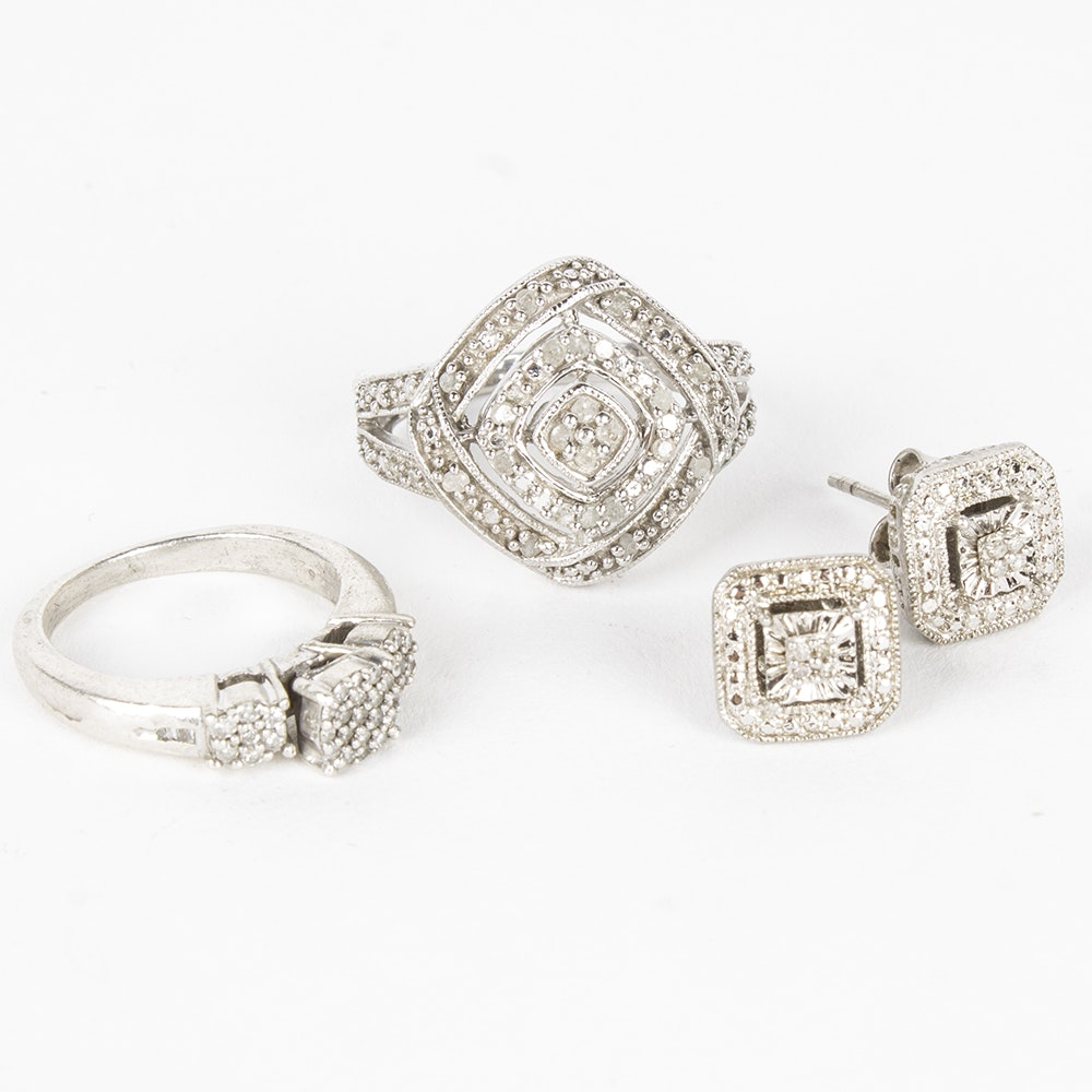 Sterling Silver And Diamond Jewelry