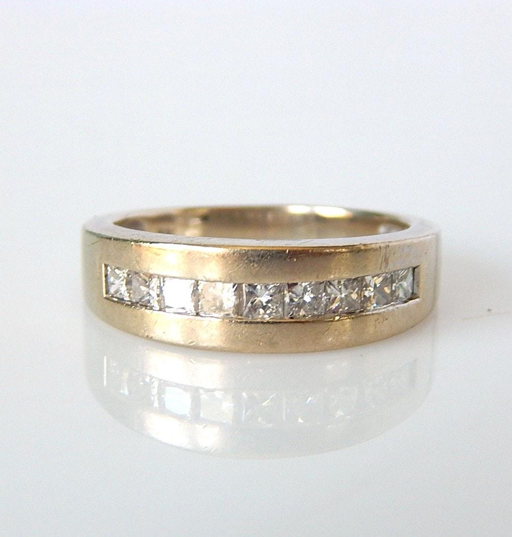 14K White Gold 1.50 CTW Diamond Band Ring