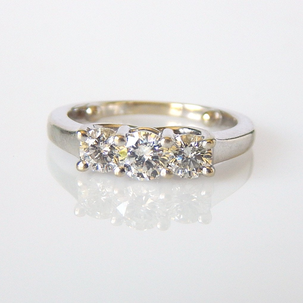 14K White Gold 0.99 CTW Diamond Engagement Ring