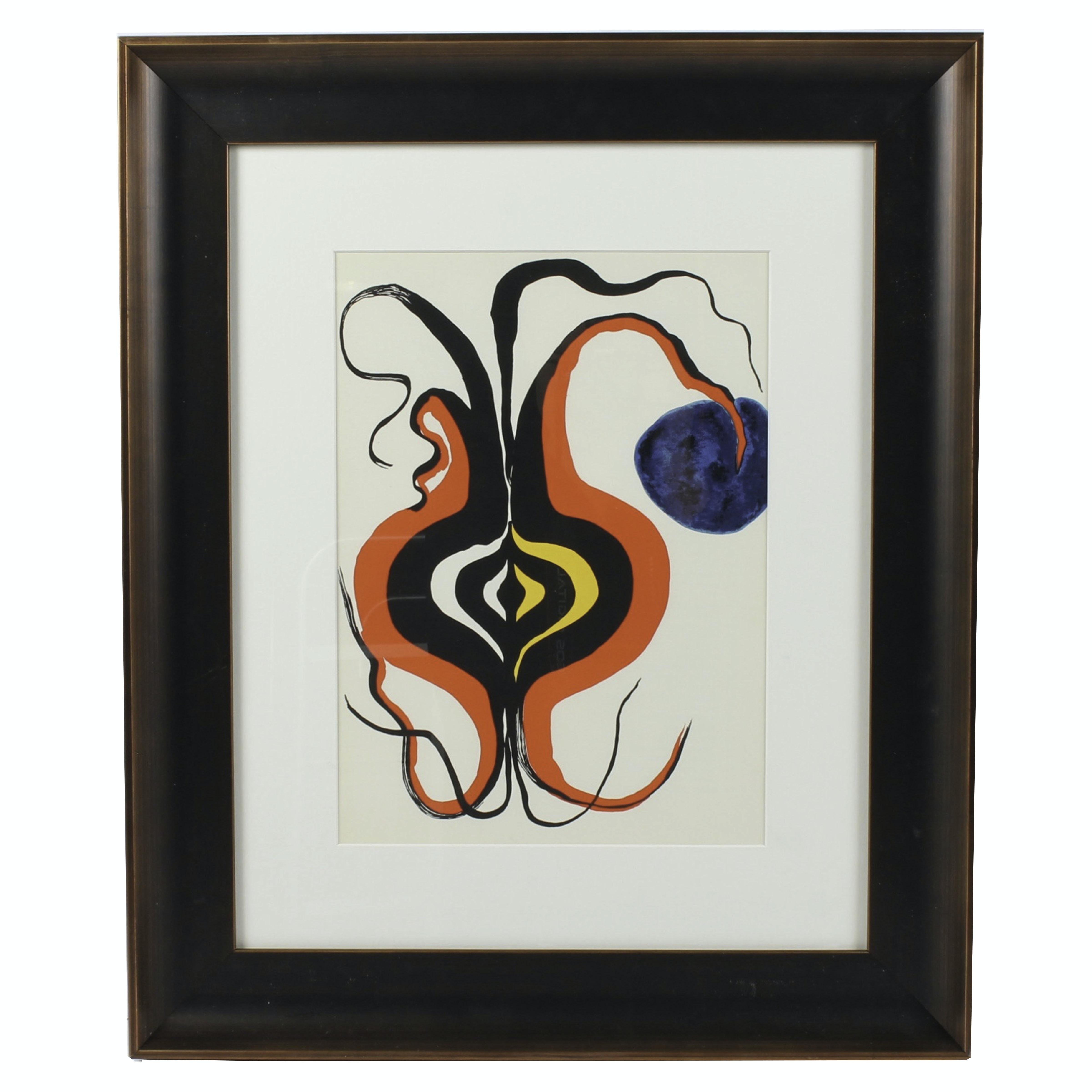 """Alexander Calder Lithograph for Derrière le Miroir """"The Onion"""""""