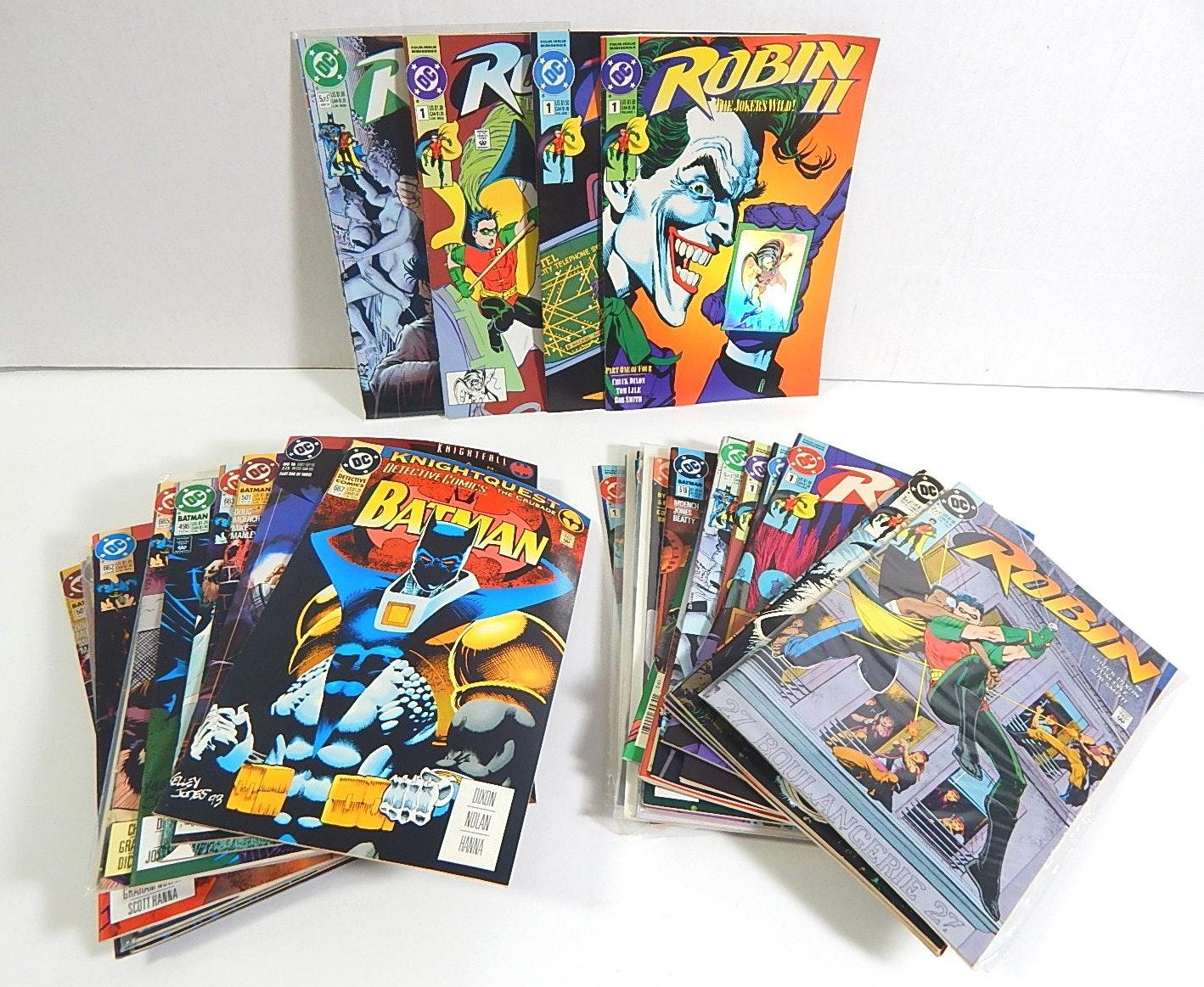 "Collection of 1990s DC Comics ""Batman"" and ""Robin"" Comics"