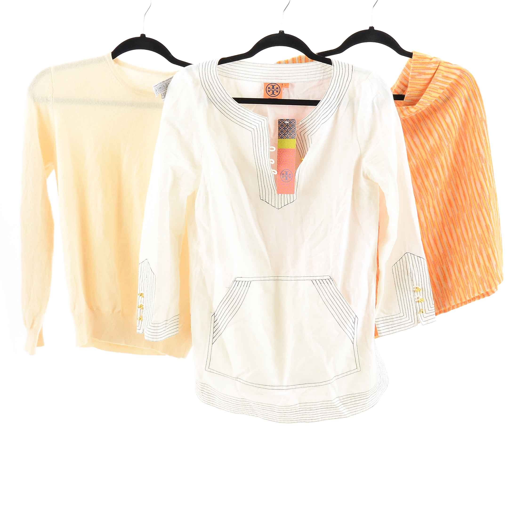 Collection of Sweaters and Blouses including Tory Burch