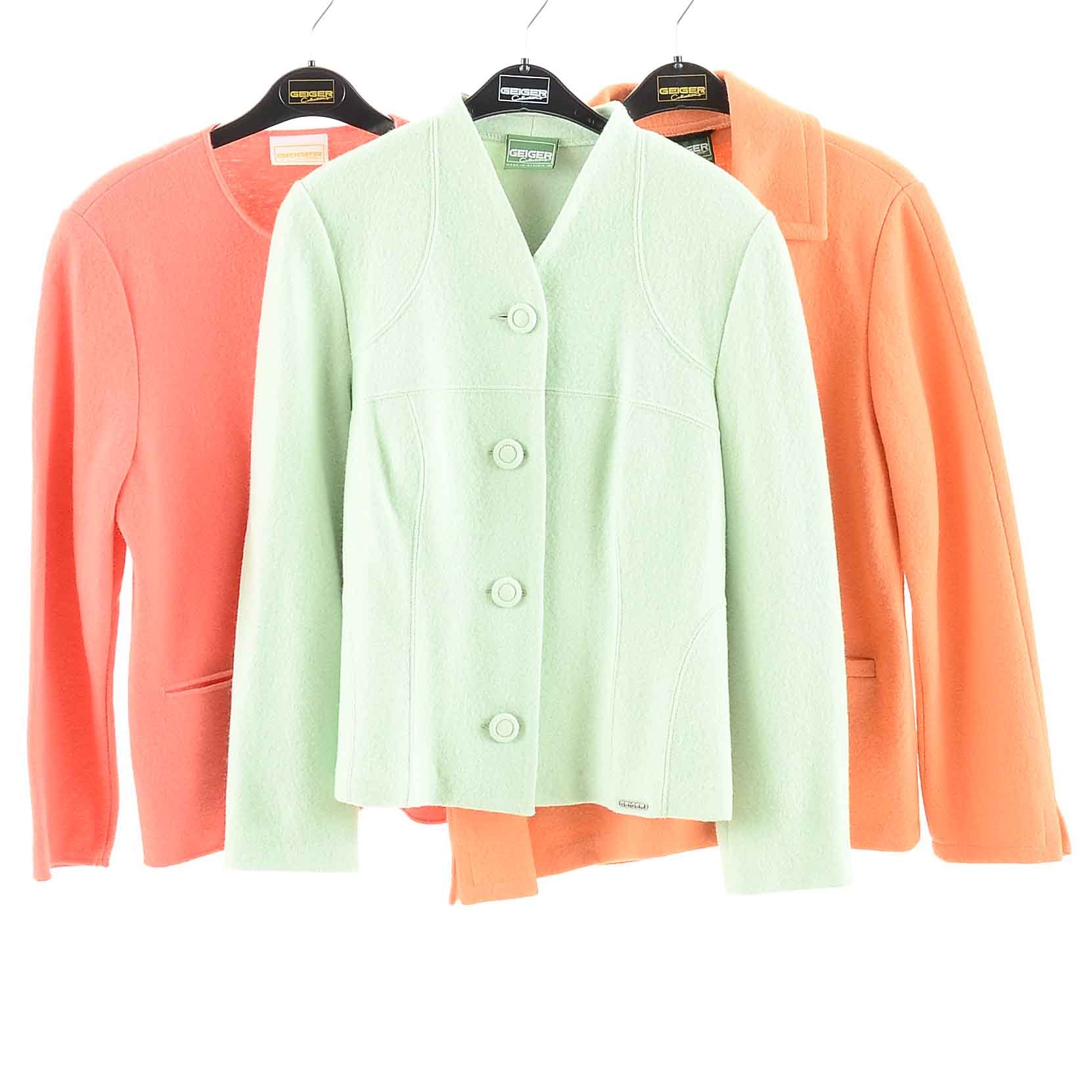 Collection of Geiger Wool Jackets