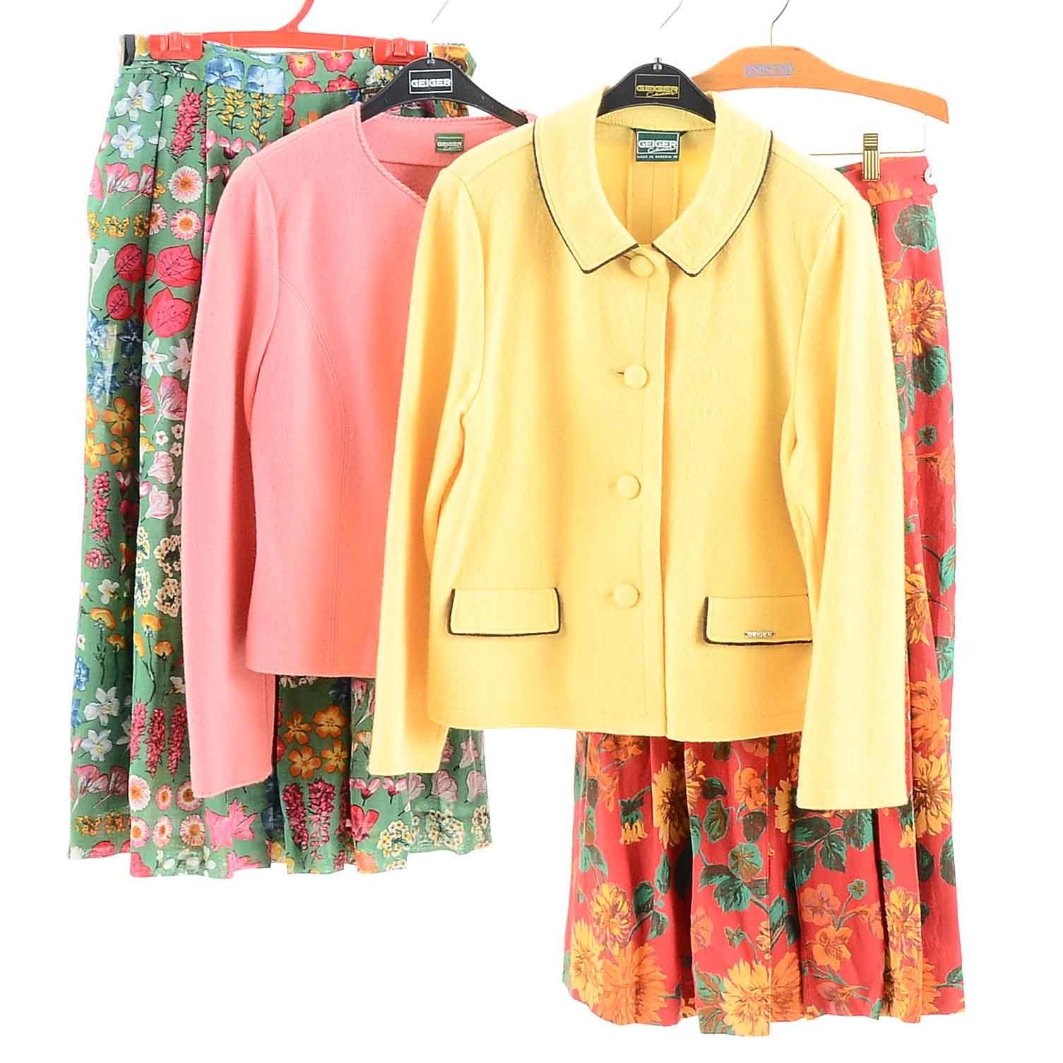Geiger Skirt Suit Sets