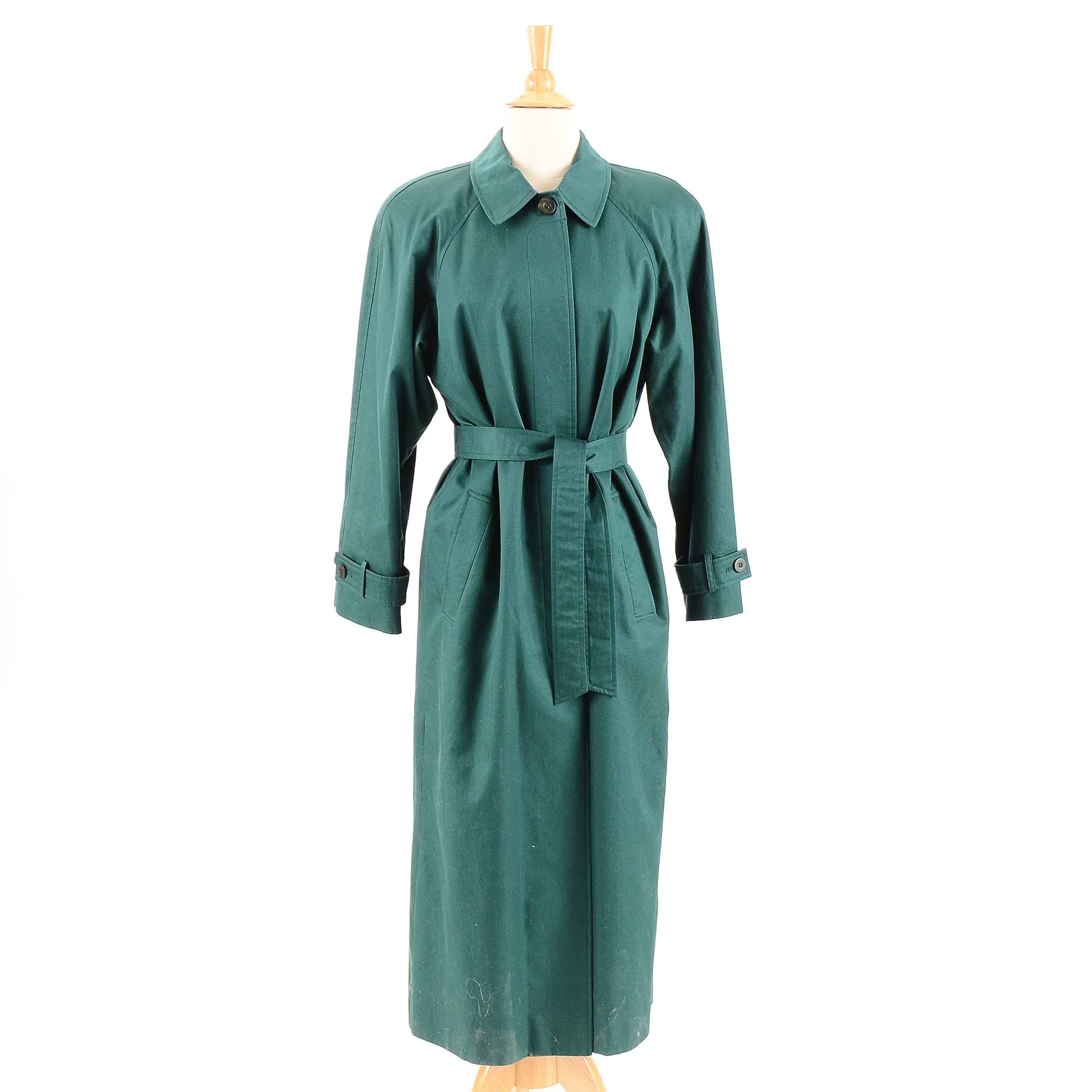 Vintage Forest Green Trench Coat by Carlisle