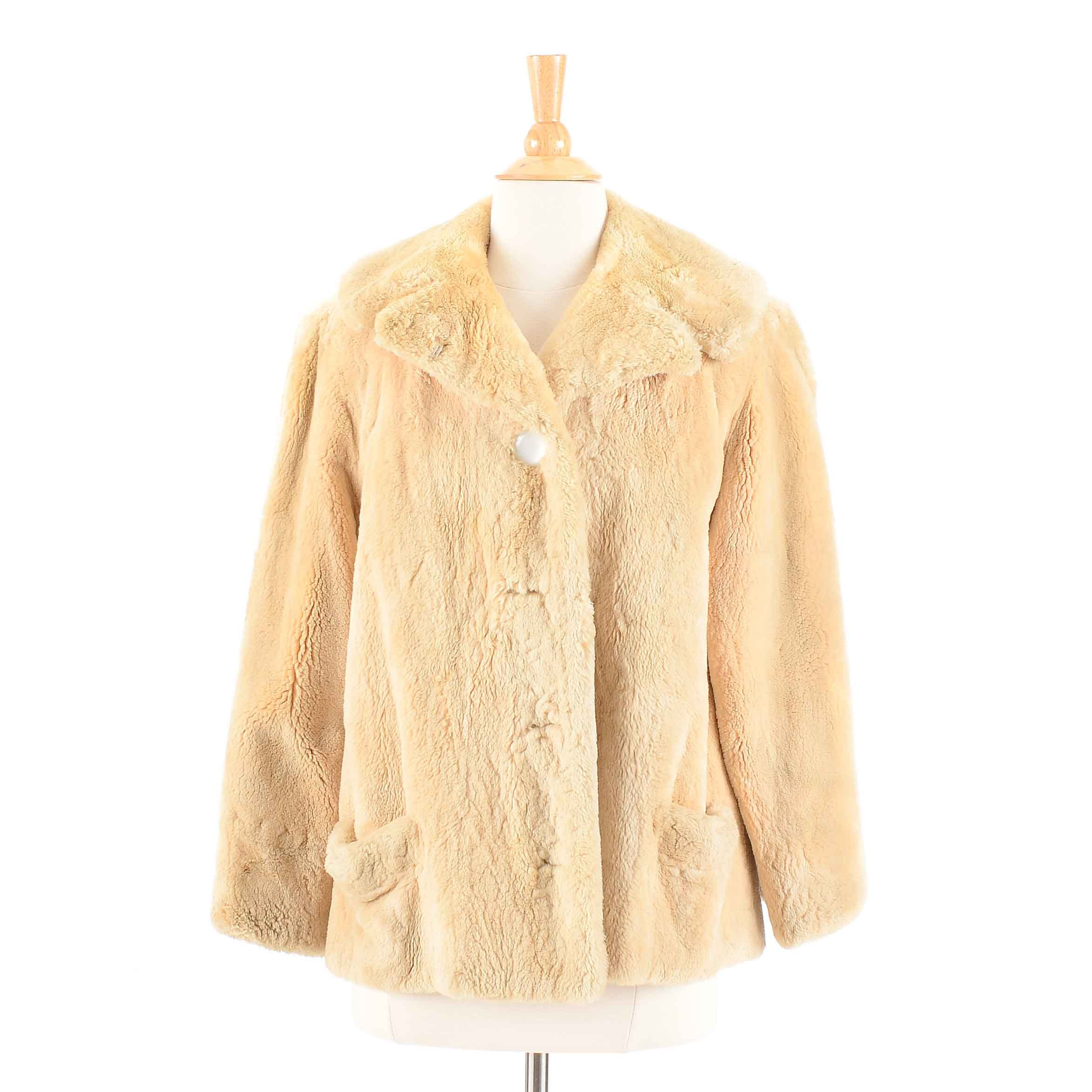 Vintage Sheared Beaver Fur Swing Coat