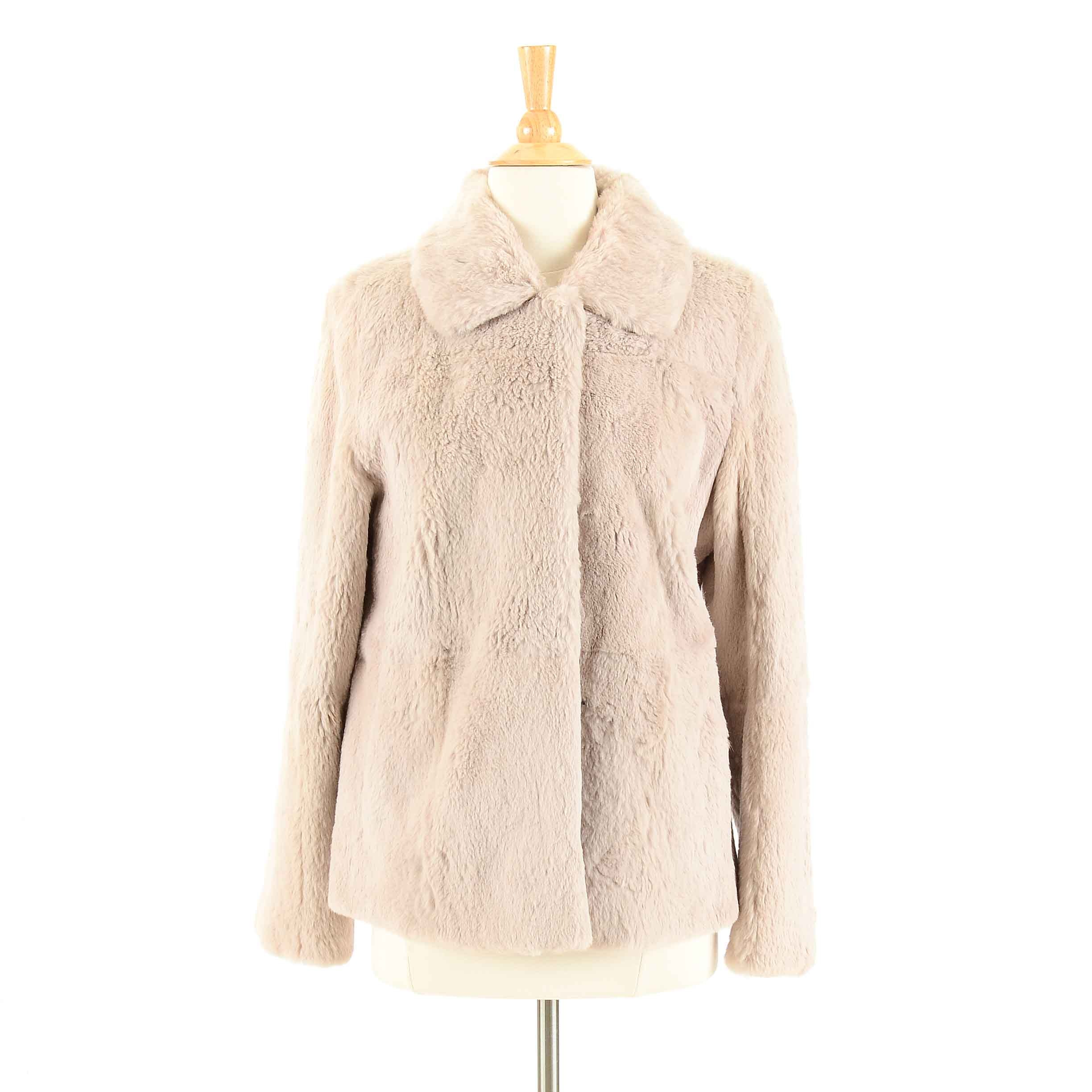 Sheared Rabbit Fur Jacket