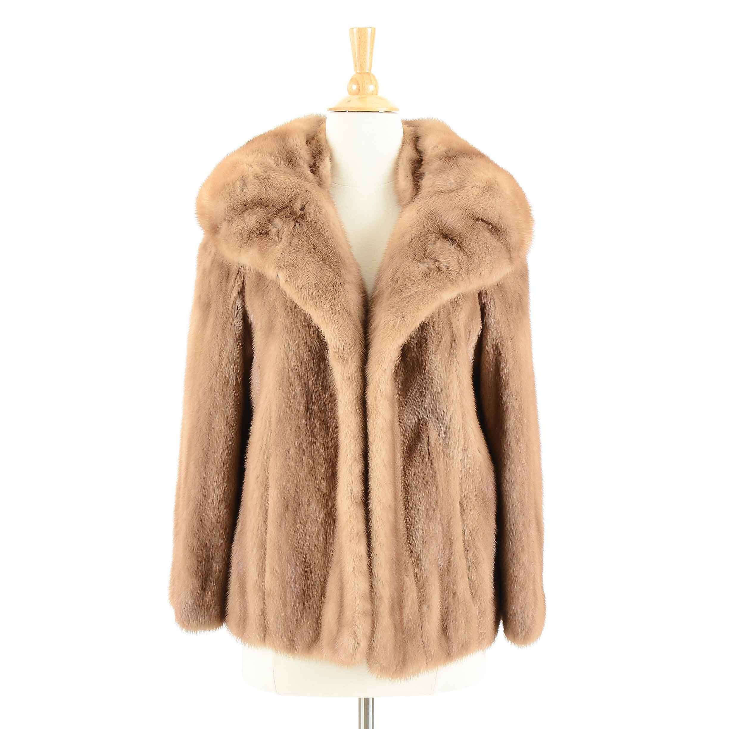 Vintage Mink Fur Swing Jacket