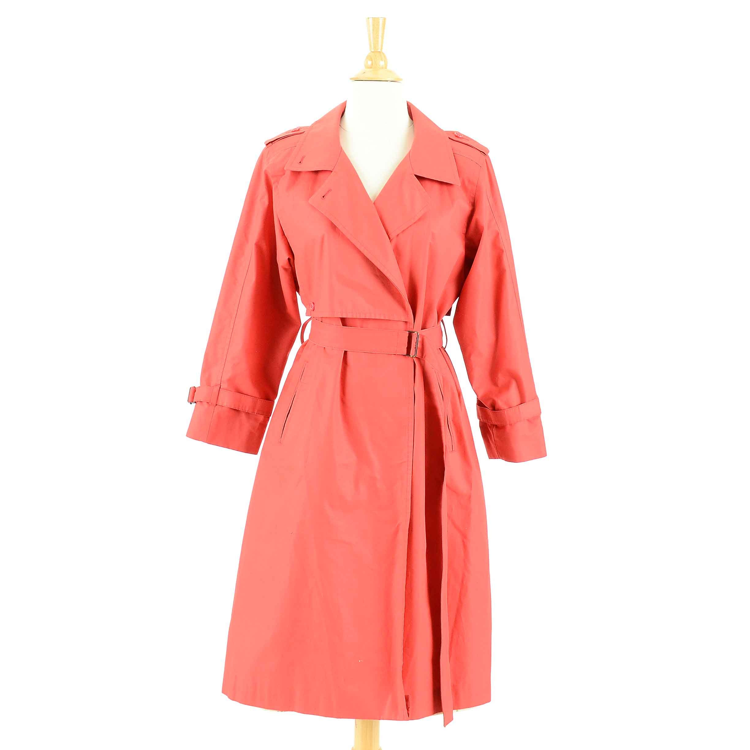 Vintage London Fog Red Trench Coat