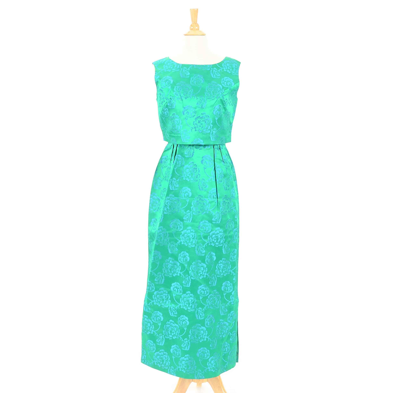 Vintage 1960s Brocade Dress