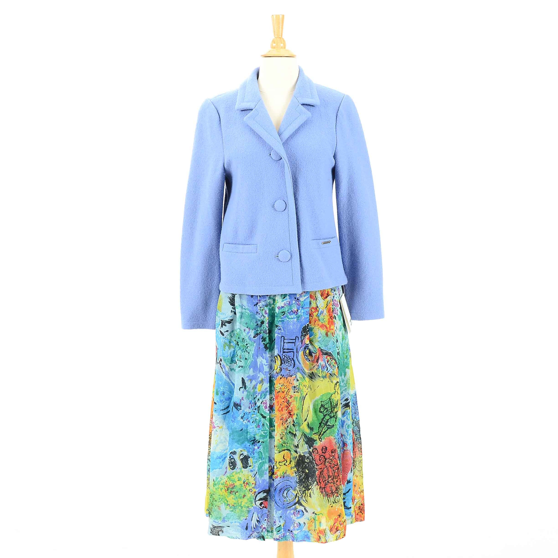 Geiger Wool Skirt Suit Set