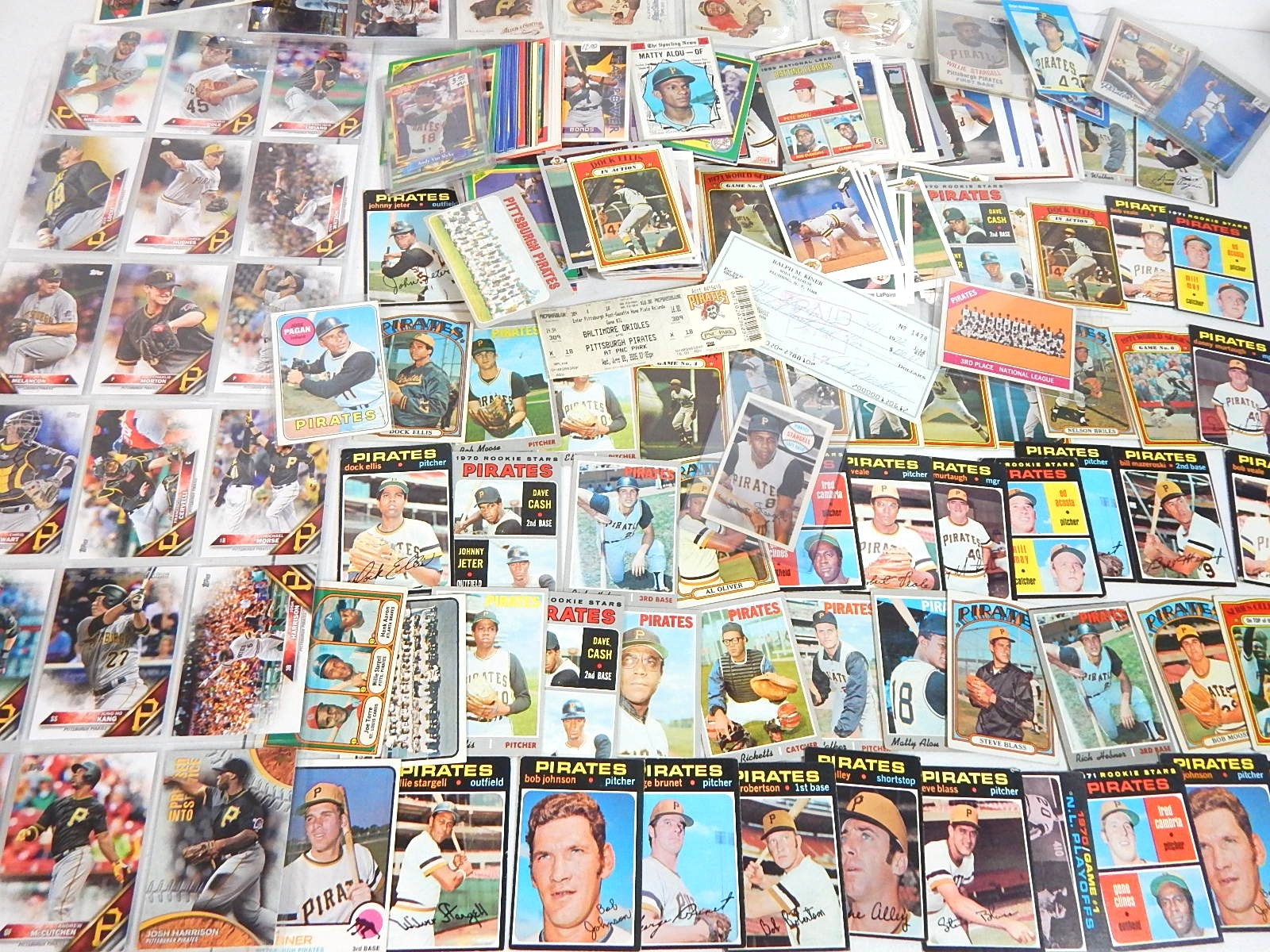 Pittsburgh Pirates Card Lot from 1960s to 2000s - Over 300 Card Count