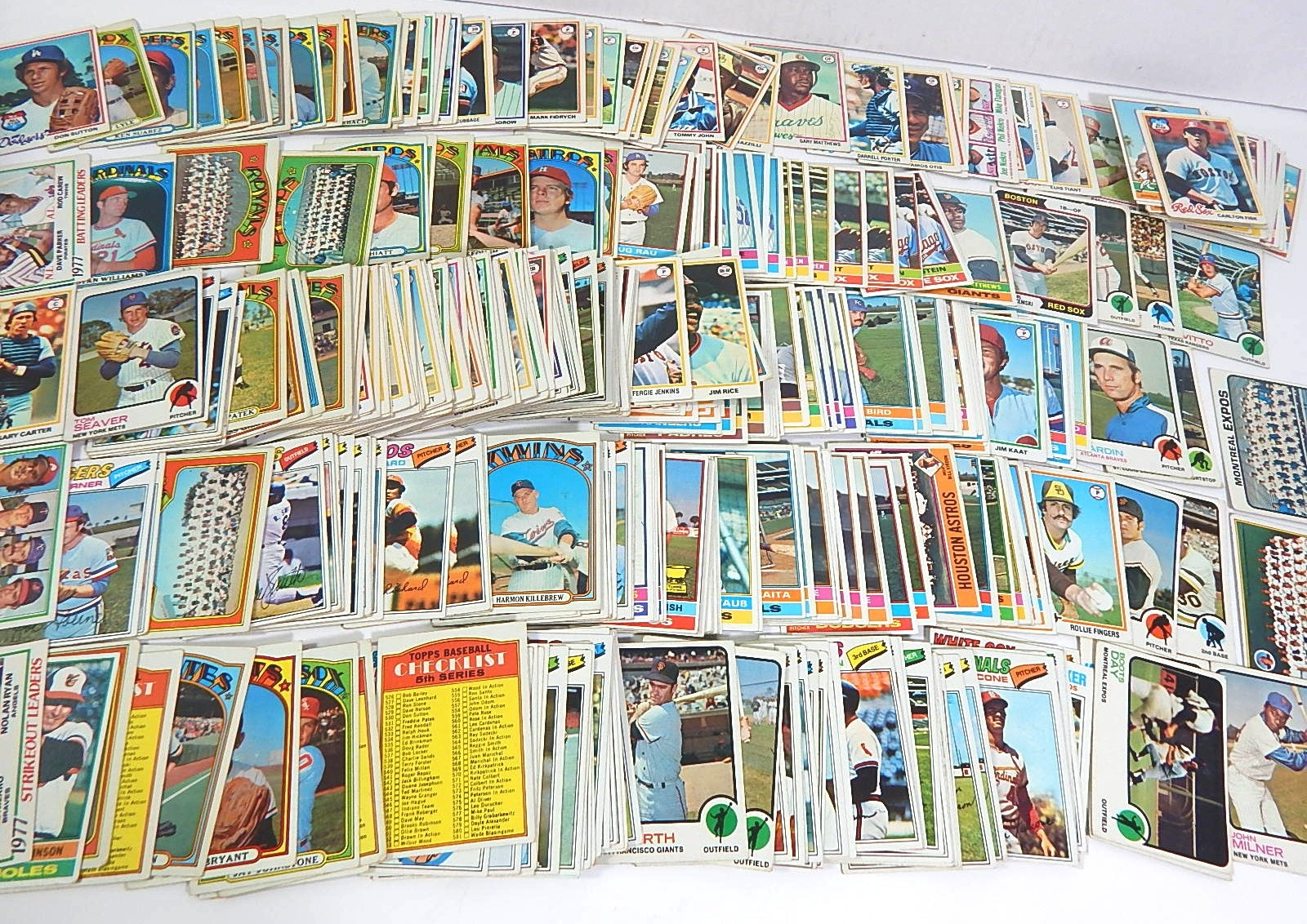 1972 to 1978 Topps Baseball Card Lot - Over 300 Card Count with Ryan, Killebrew