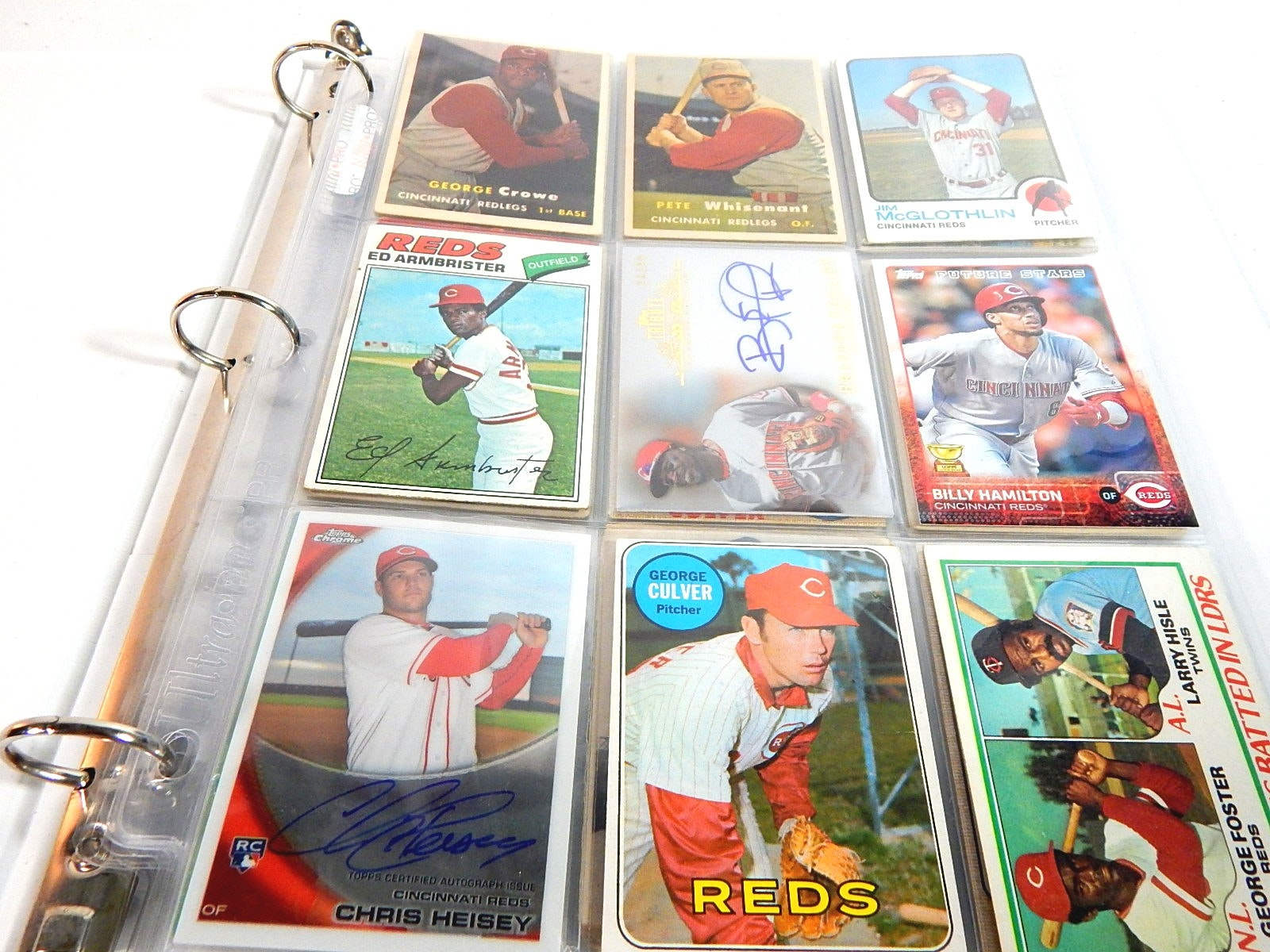 Cincinnati Reds Baseball Cards in Album - 1950s to 2000