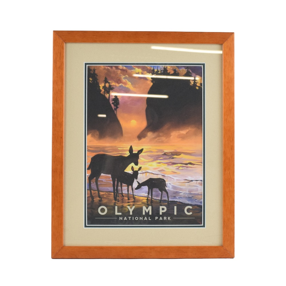 Vintage Travel Advertisement for Olympic National Park