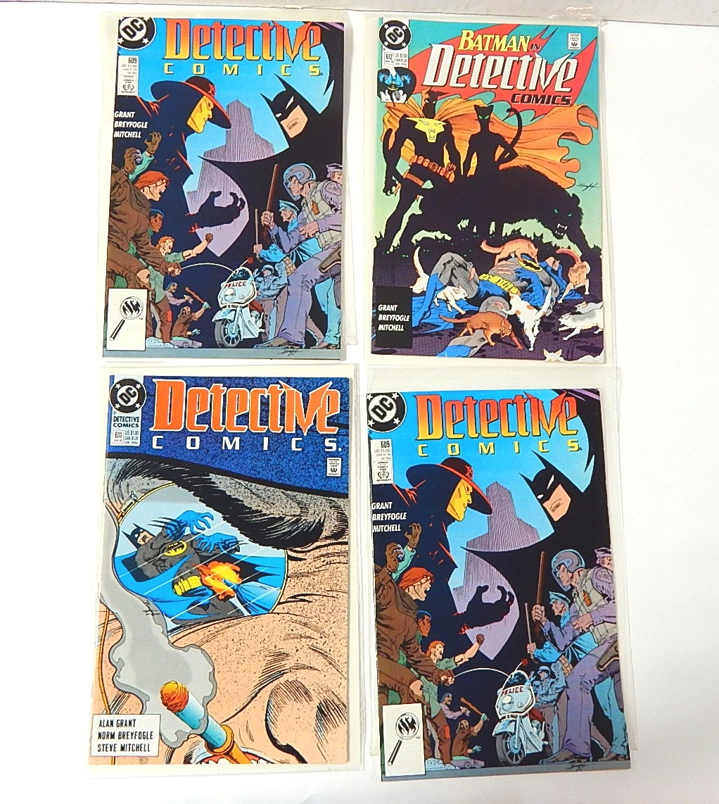Four Signed Detective Comics by Norm Breyfogle, #611, #609,#612