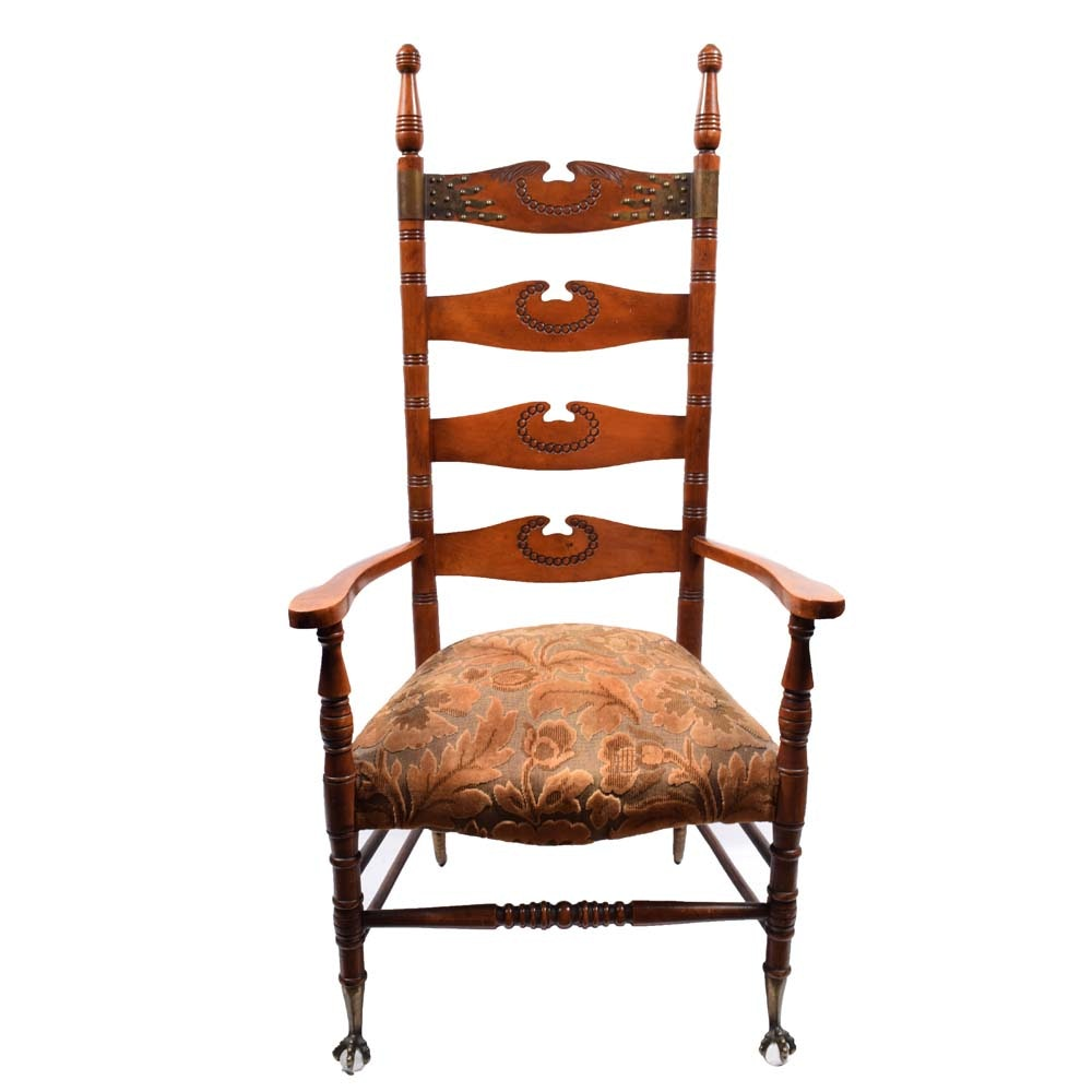 Vintage Ladderback Arm Chair