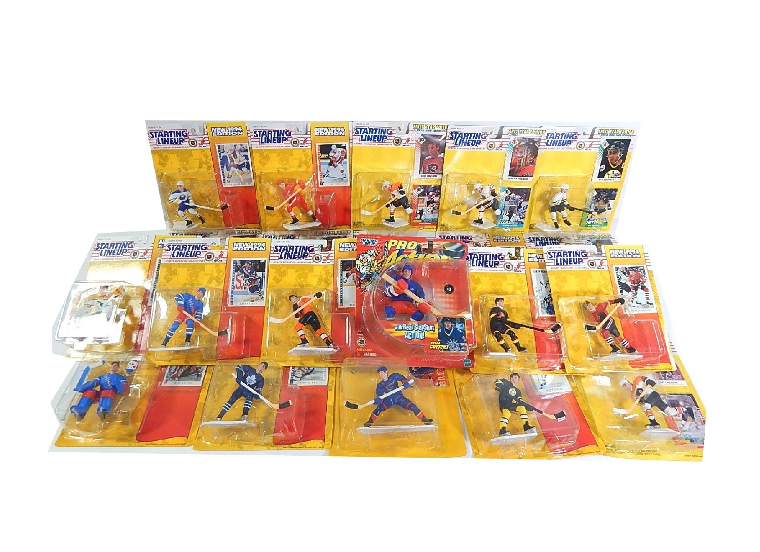Lot of NHL Starting Lineup Action Figures with Gretzky, Lemieux, More