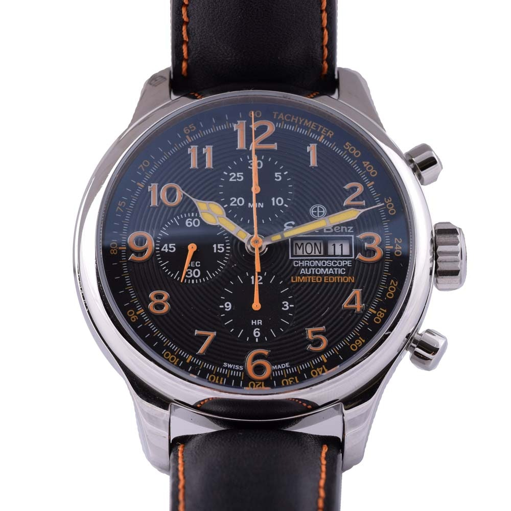 Ernst Benz Stainless Steel Limited Edition Chronoscope Automatic Wristwatch