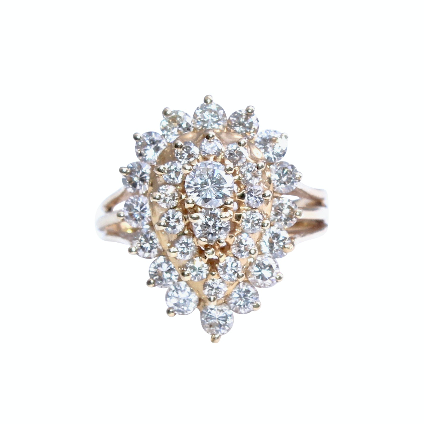 14K Yellow Gold 2.00 CTW Diamond Ring