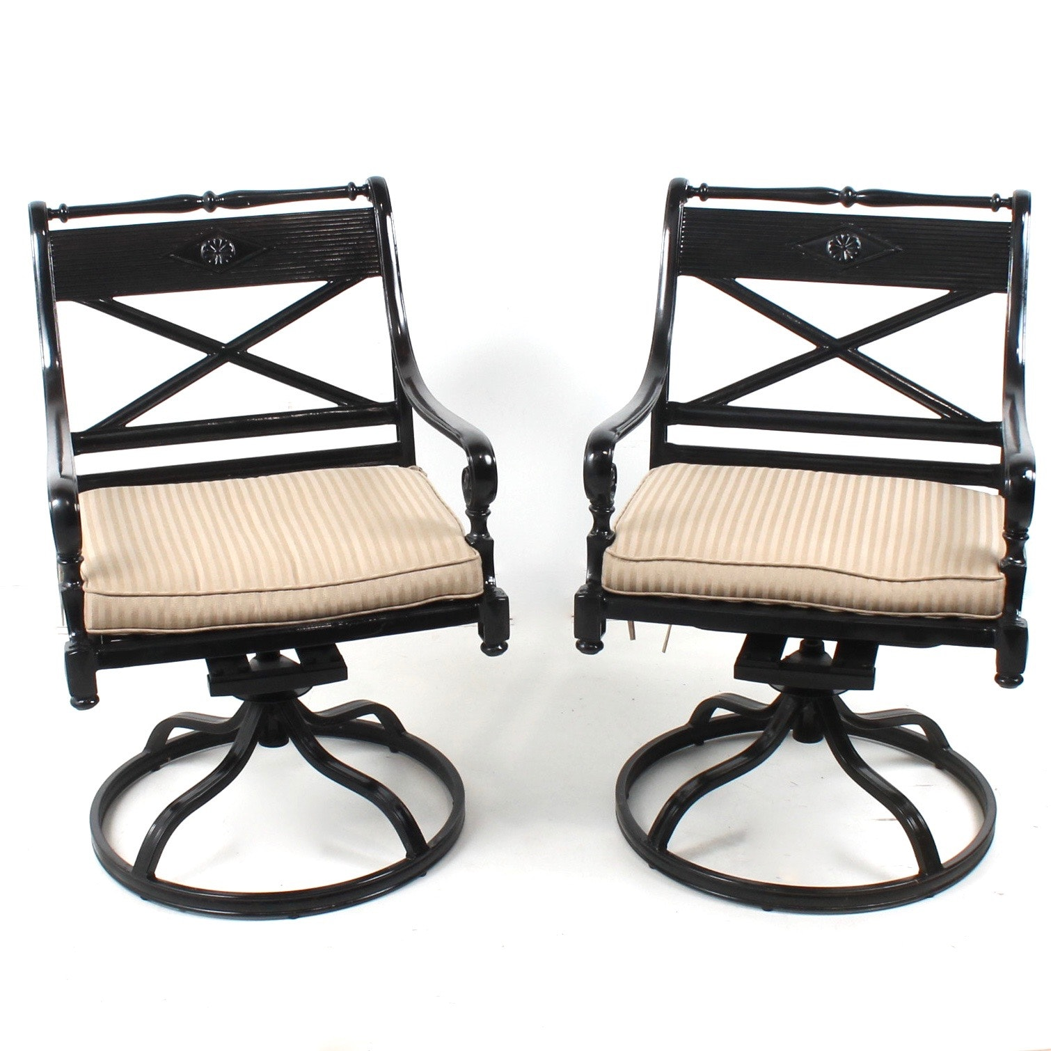 Frontgate Cast Metal Patio Chairs